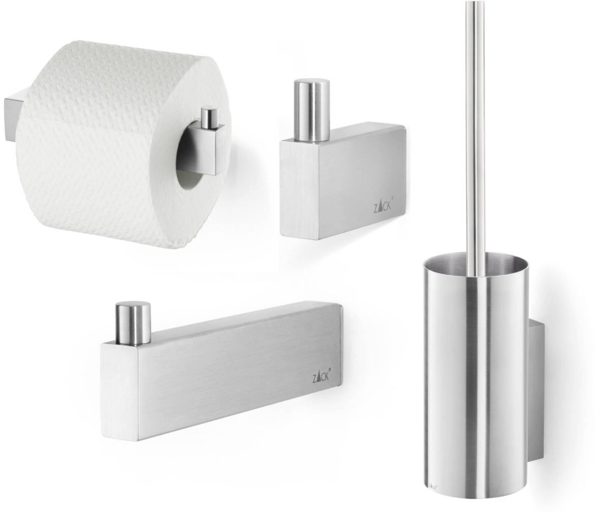 ZACK Linea toilet accessoireset 4-in-1 RVS Mat