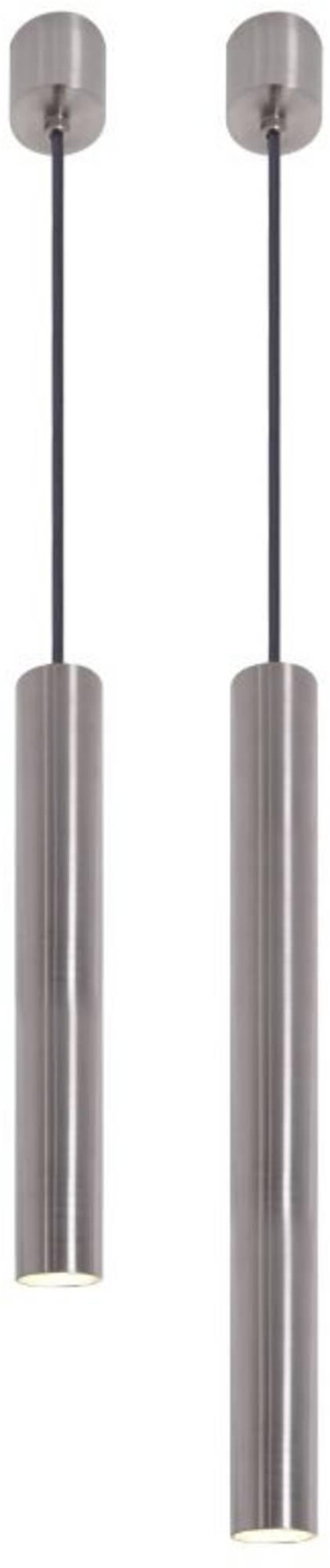 Looox Light Collection 2 badkamer hanglampen 25 en 40 cm rvs geborsteld