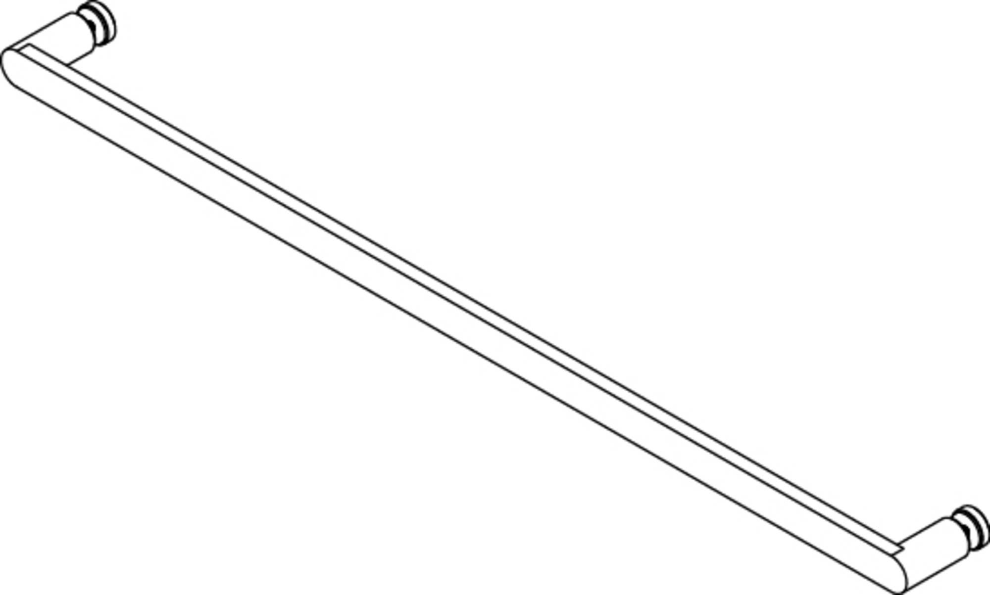 Saniselect modella Handdoekhouder 70 cm rond Mat Zwart