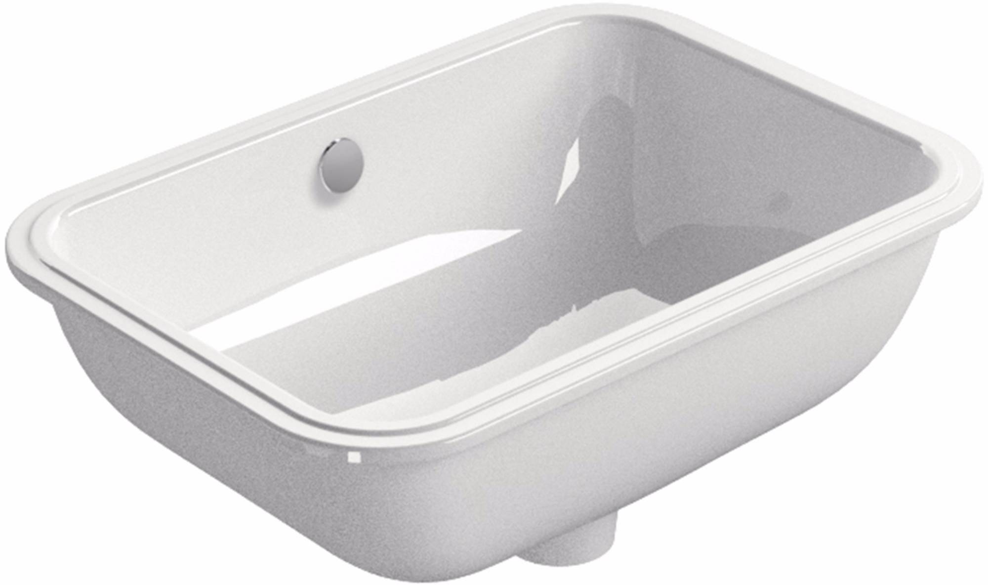 Ben Muret wastafel zonder kraangat 50x38 cm wit