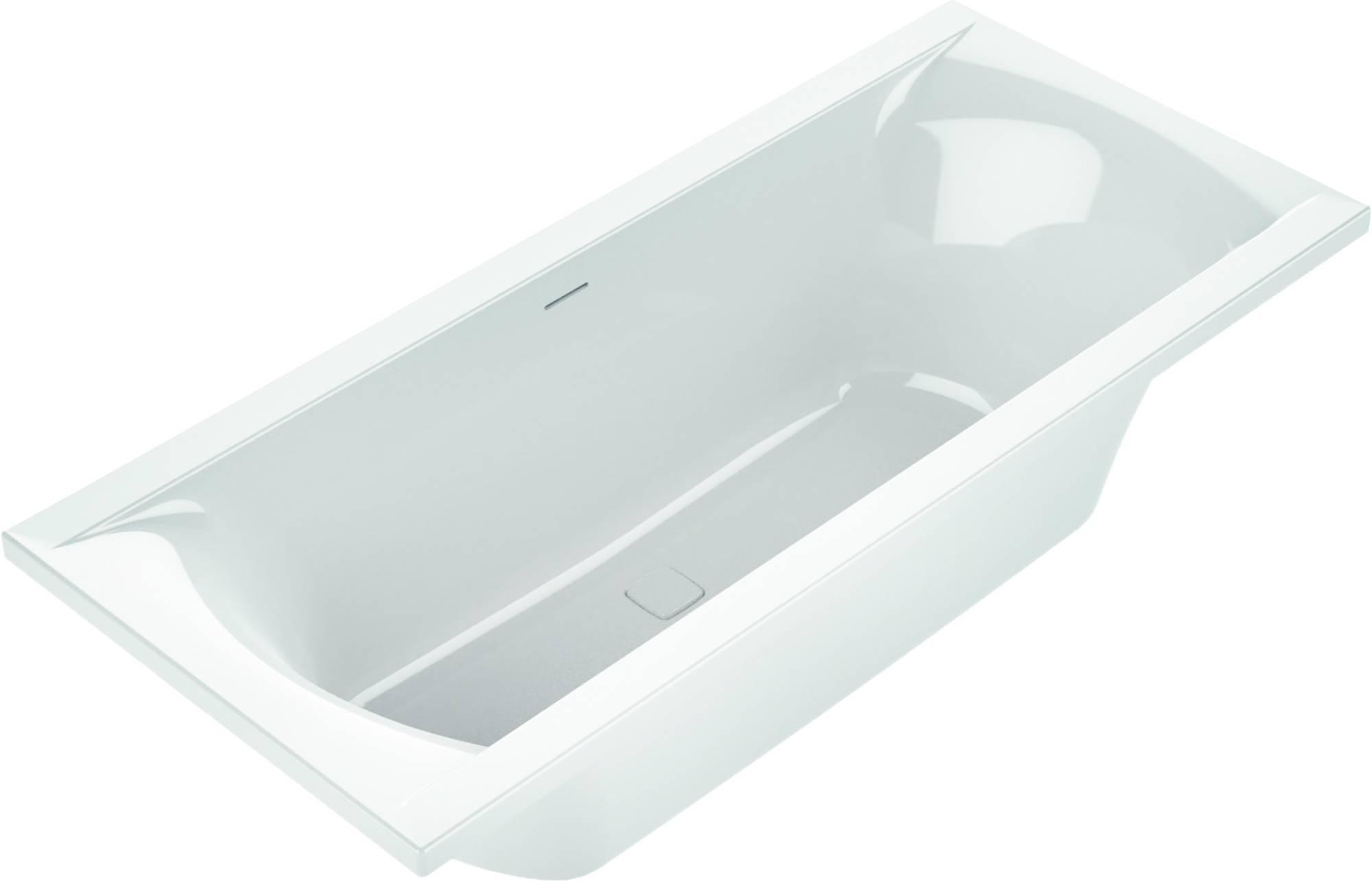 Ben Naria Ligbad Design 180x80 cm Wit incl. Afvoer Wit