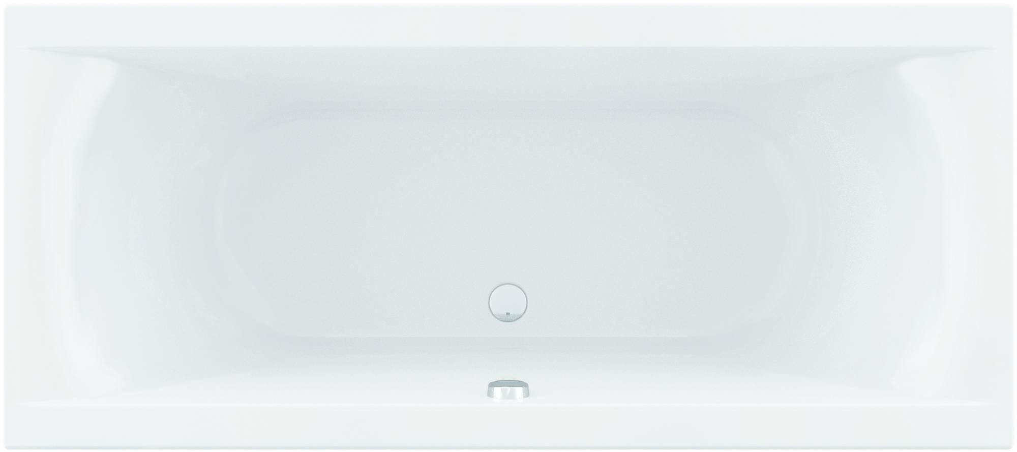 Ben Naria Slim Bad inbouw met dunne rand 180x80 cm Wit