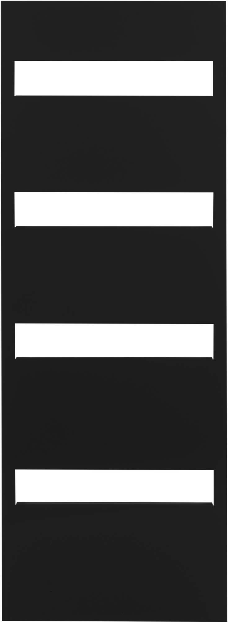 Ben Paros Designradiator 60,5x170,3 cm 725W Zwart