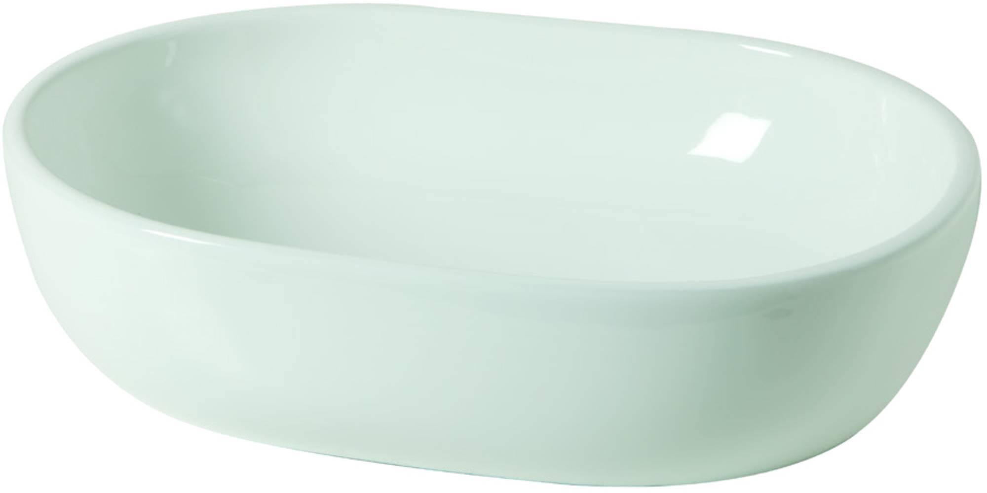 Van Heck Opbouwkom 59x14,5 cm zonder overloop porselein White