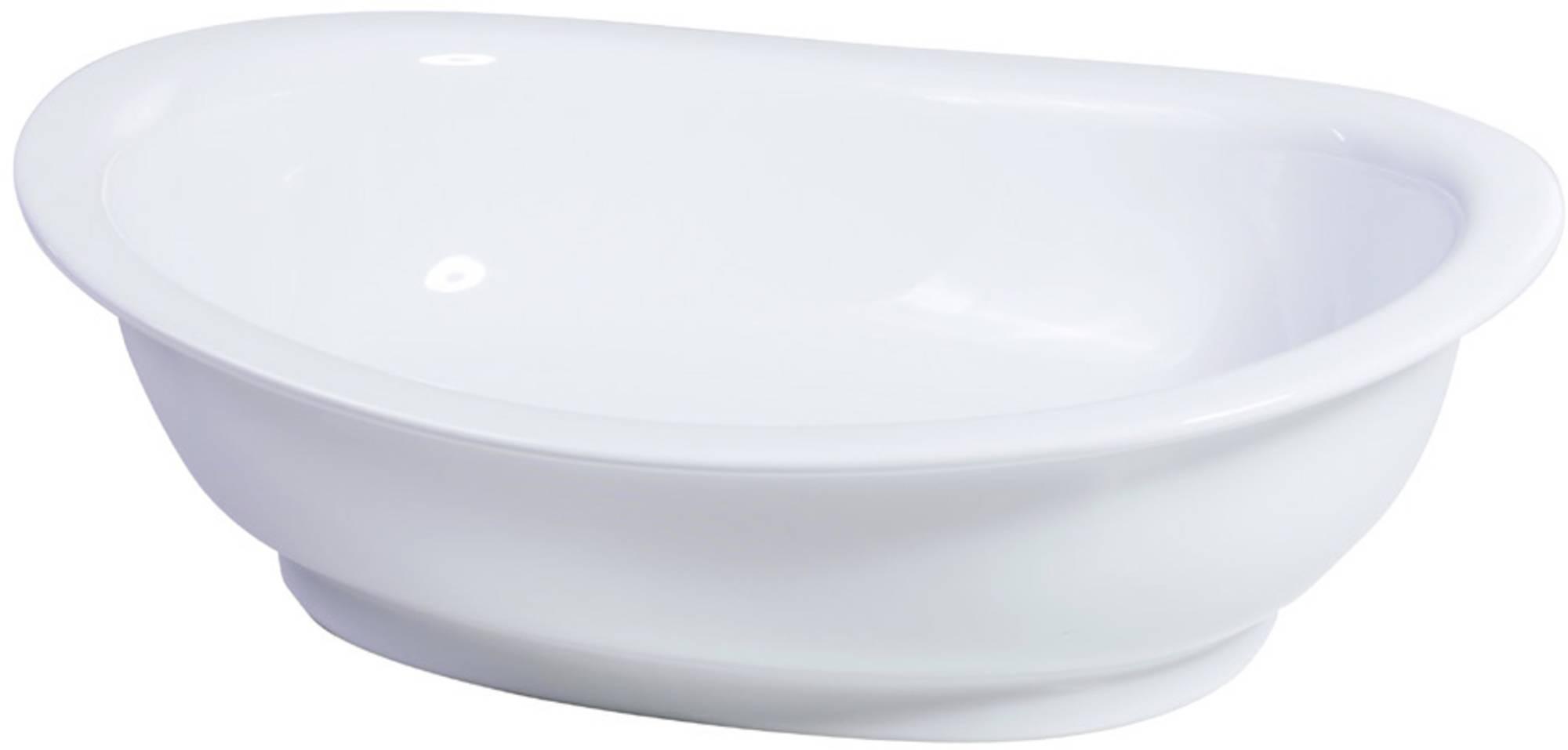 Van Heck Opbouwkom 53,5x16,5 cm zonder overloop porselein White