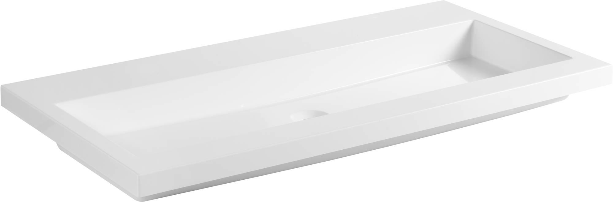 Ben Straight Wastafel zonder kraangaten 100x51 cm Wit