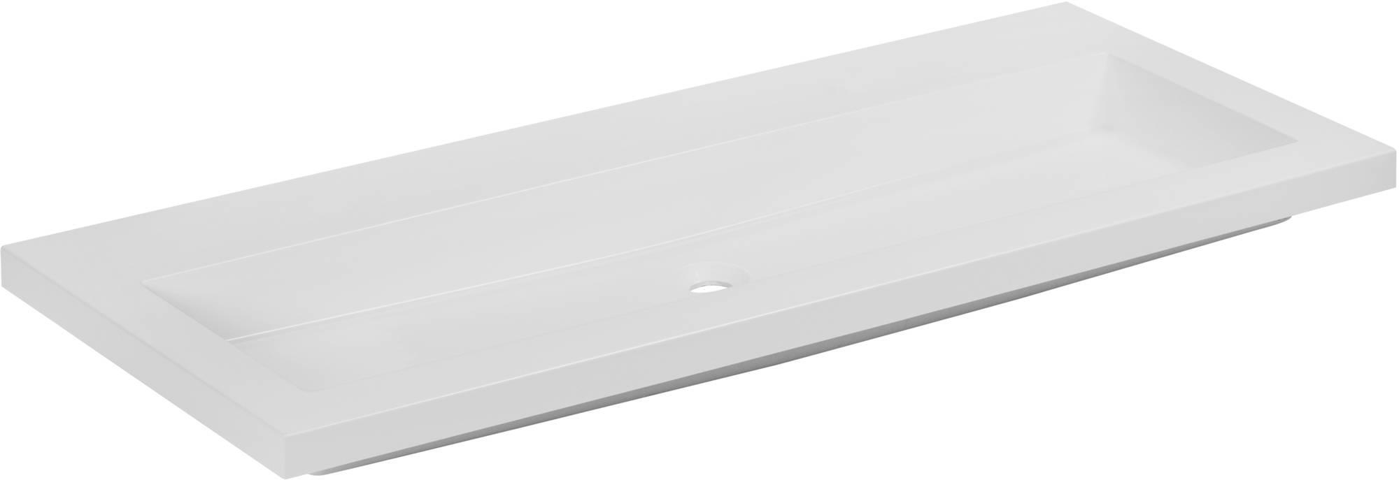 Ben Straight Wastafel zonder kraangat 120x51 cm Wit