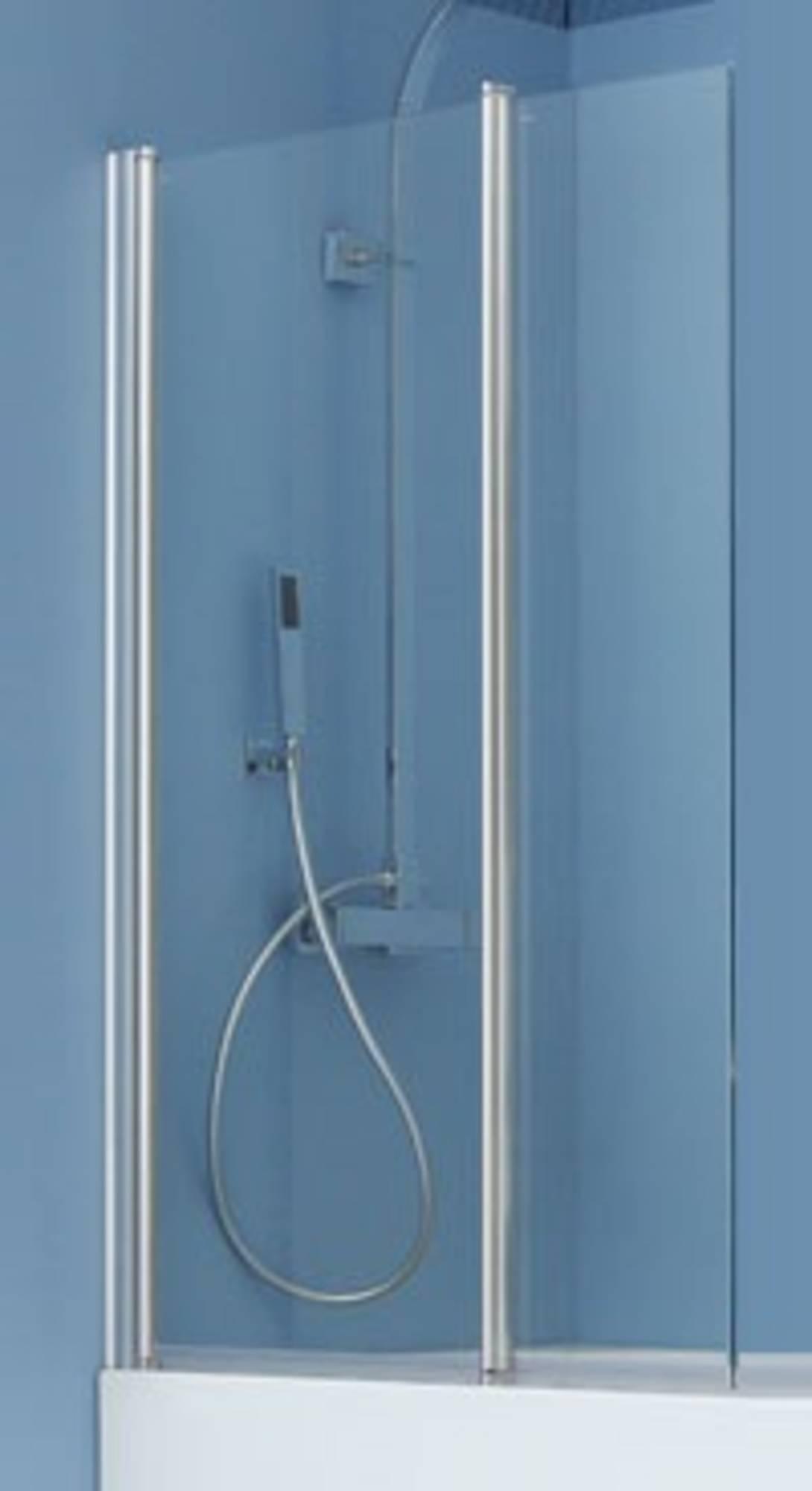 Ben Romero 2-delige Badwand 125x140cm Chroom - Helder Glas