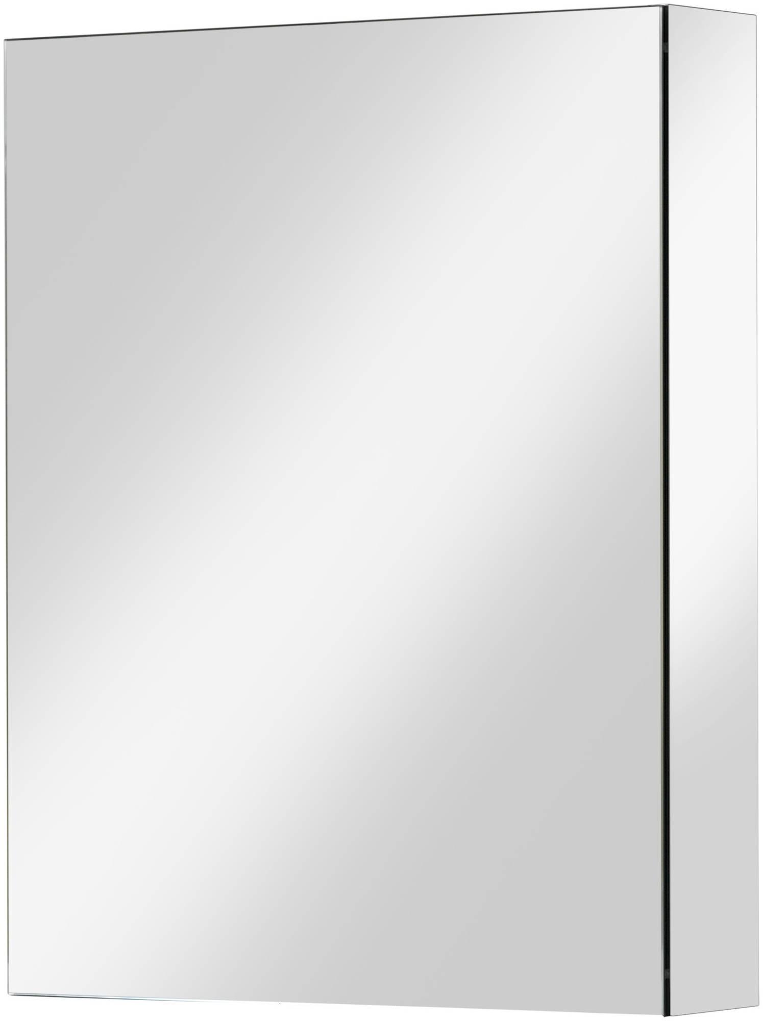 Ben Vario spiegelkast,1 gelijk deel,links,60x14x75cm, spiegelmelamine omtrokken zijpanelen