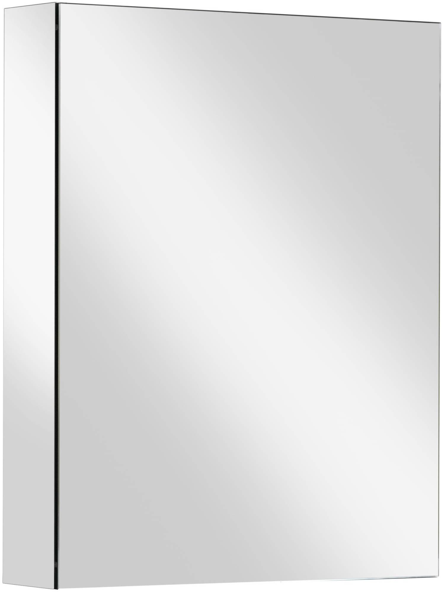 Ben Vario spiegelkast,1 gelijk deel,rechts,60x14x75cm, spiegelmelamine omtrokken zijpanelen