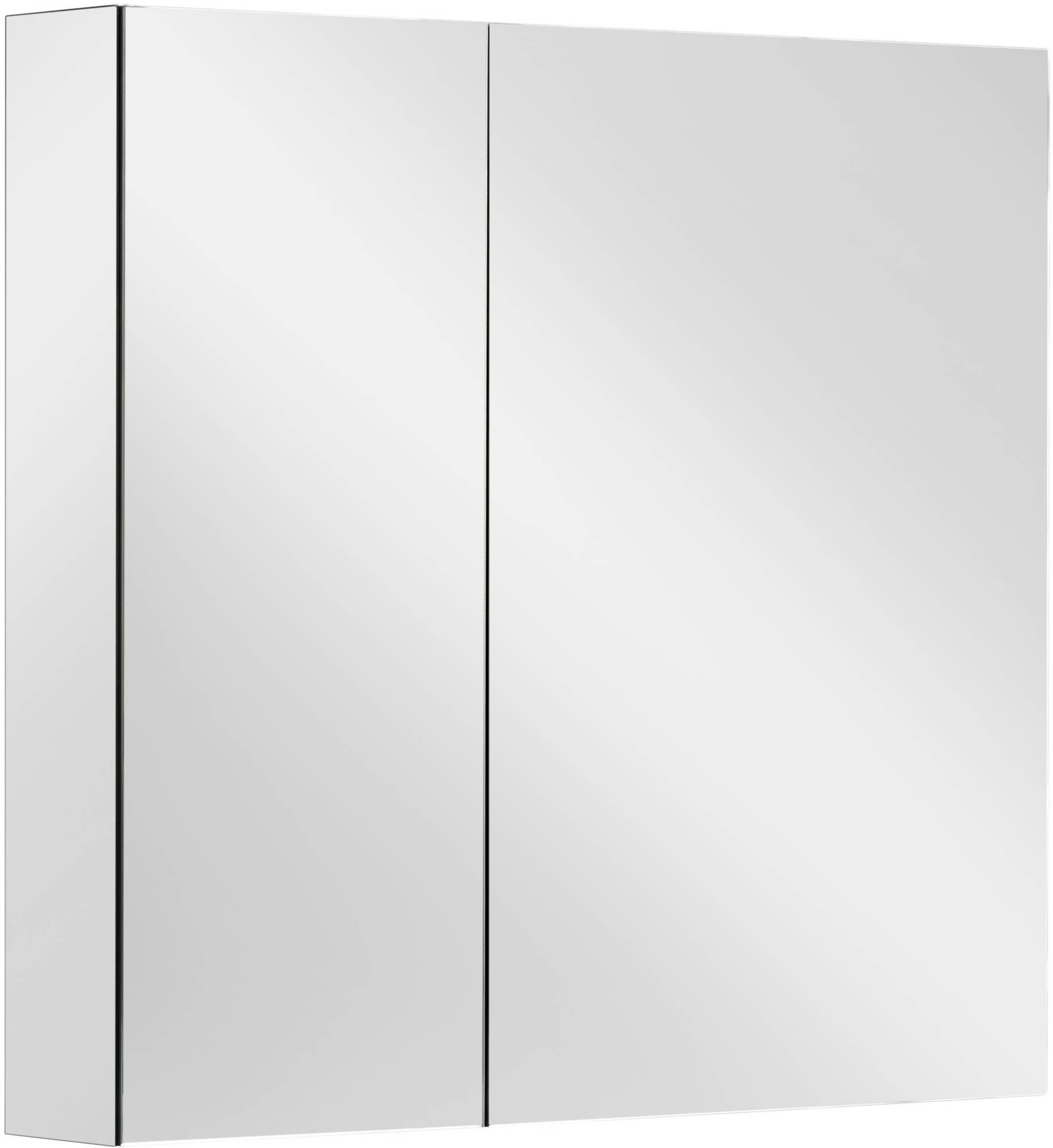 Ben Vario spiegelkast,2 ongelijke delen,rechts,70x14x75cm, spiegelmelamine omtrokken zijpanelen