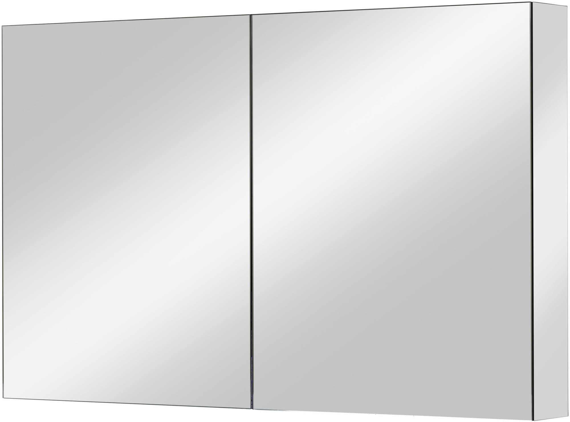 Ben Vario spiegelkast,2 gelijke delen,120x14x75cm, spiegelmelamine omtrokken zijpanelen