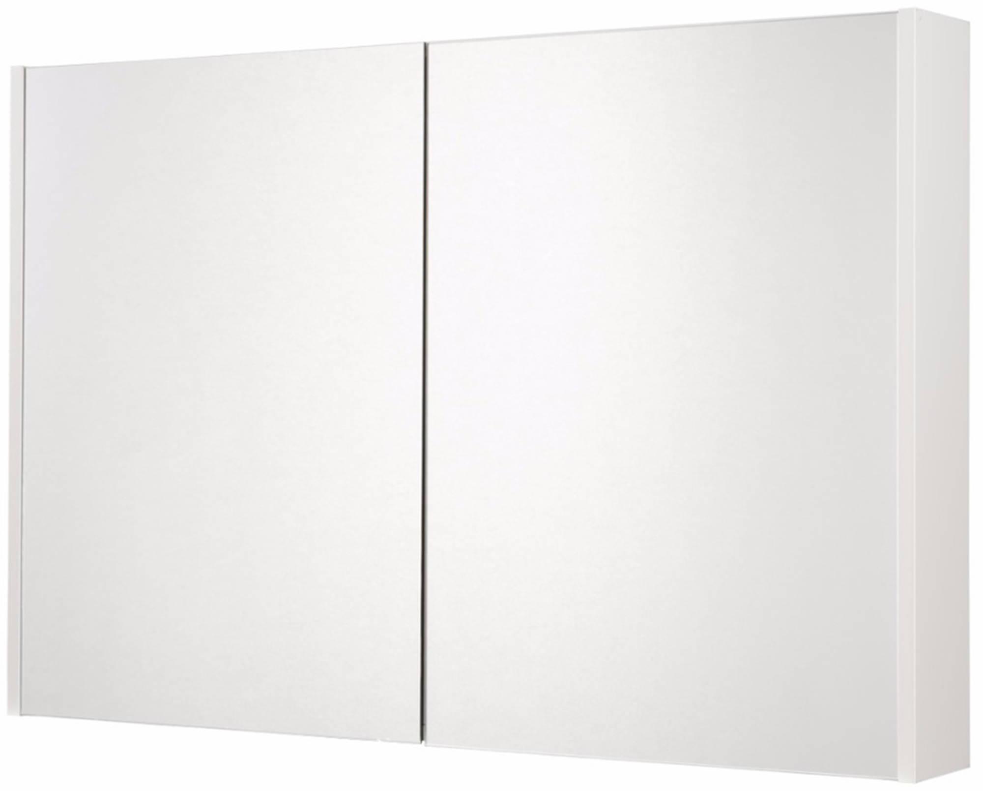Saniselect Socan Spiegelkast 2 deuren 100cm Mat Wit