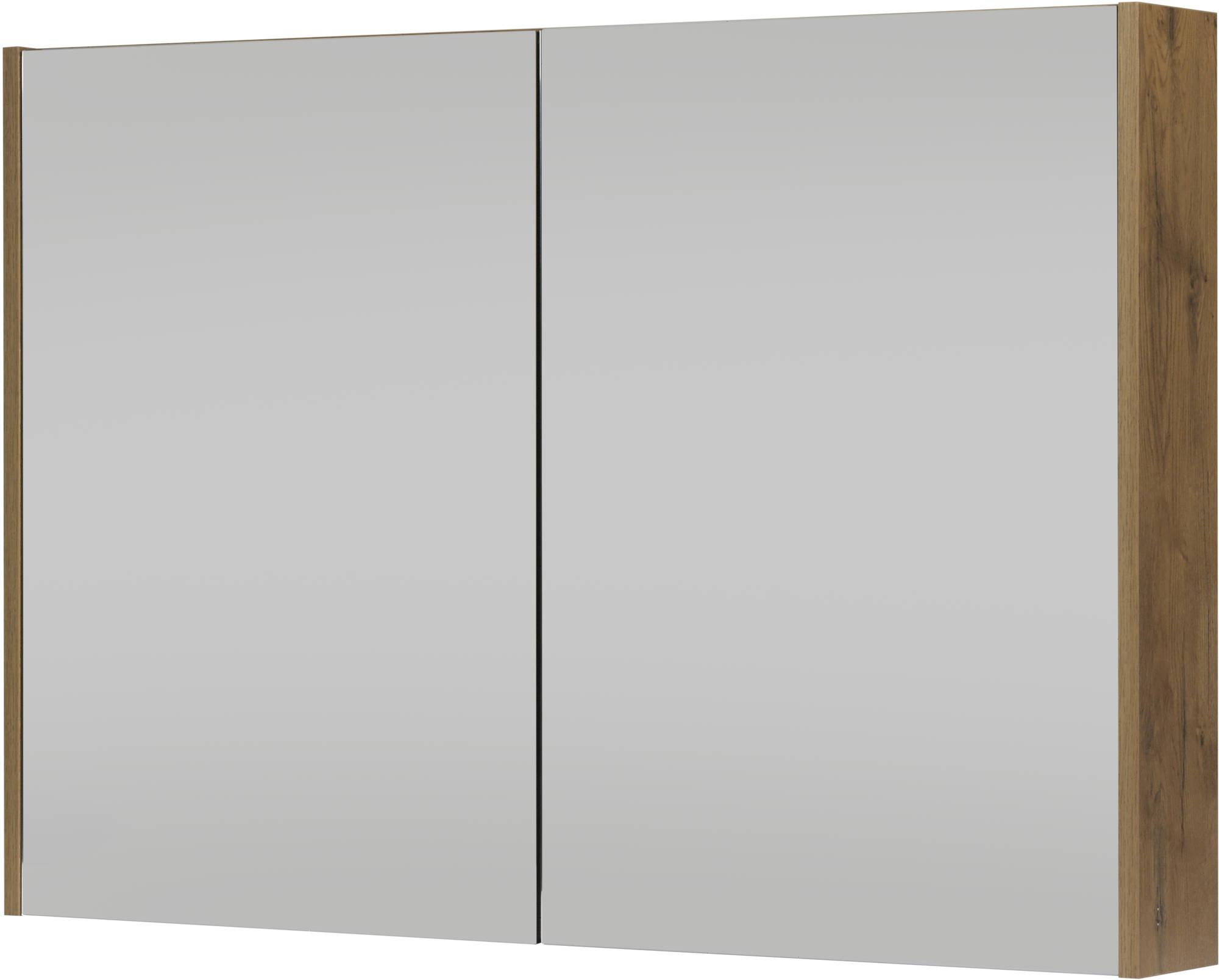 Saniselect Socan Spiegelkast 100x14x70 cm Wild Eiken