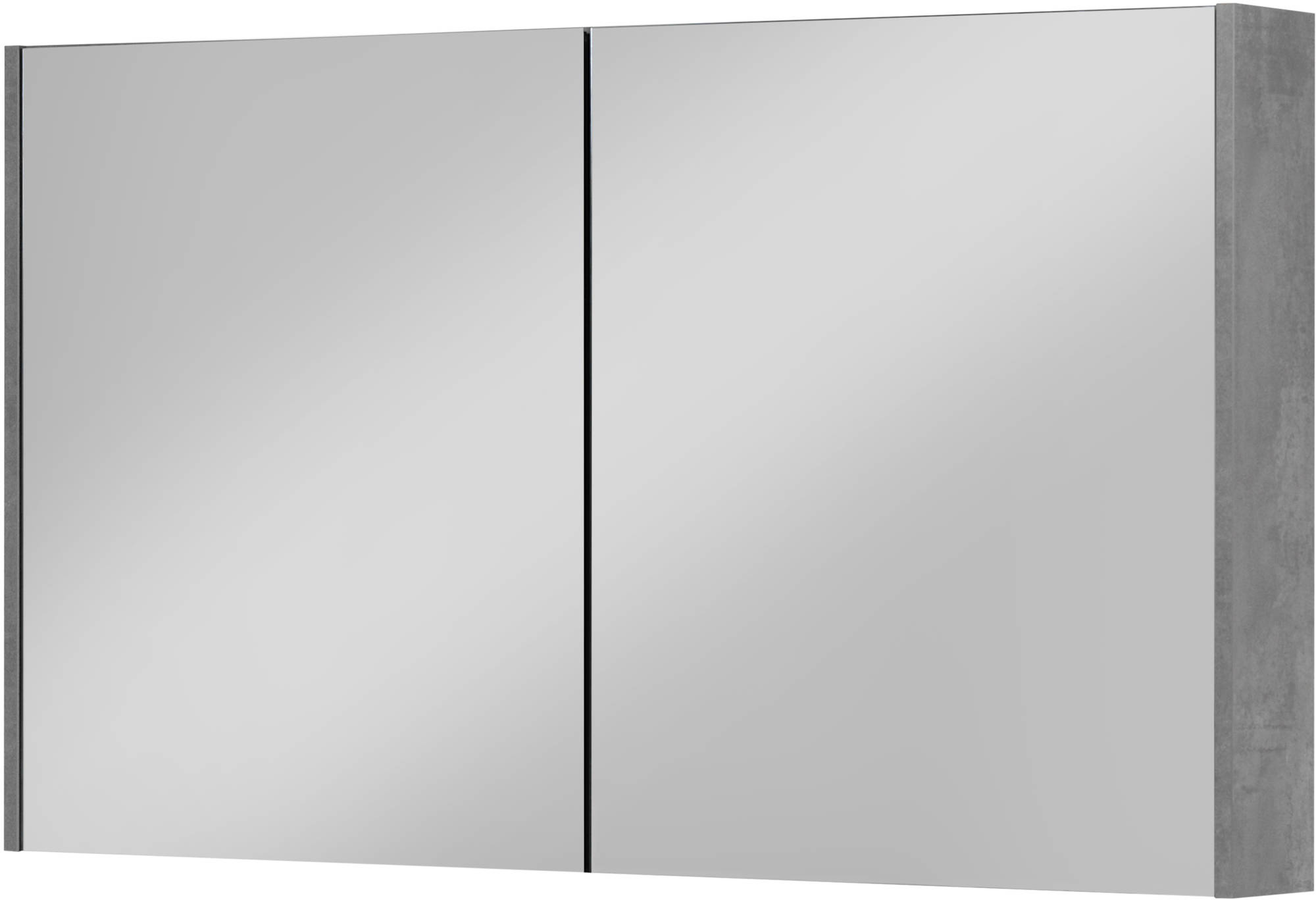 Saniselect Socan Spiegelkast 120x14x70 cm Beton Grijs