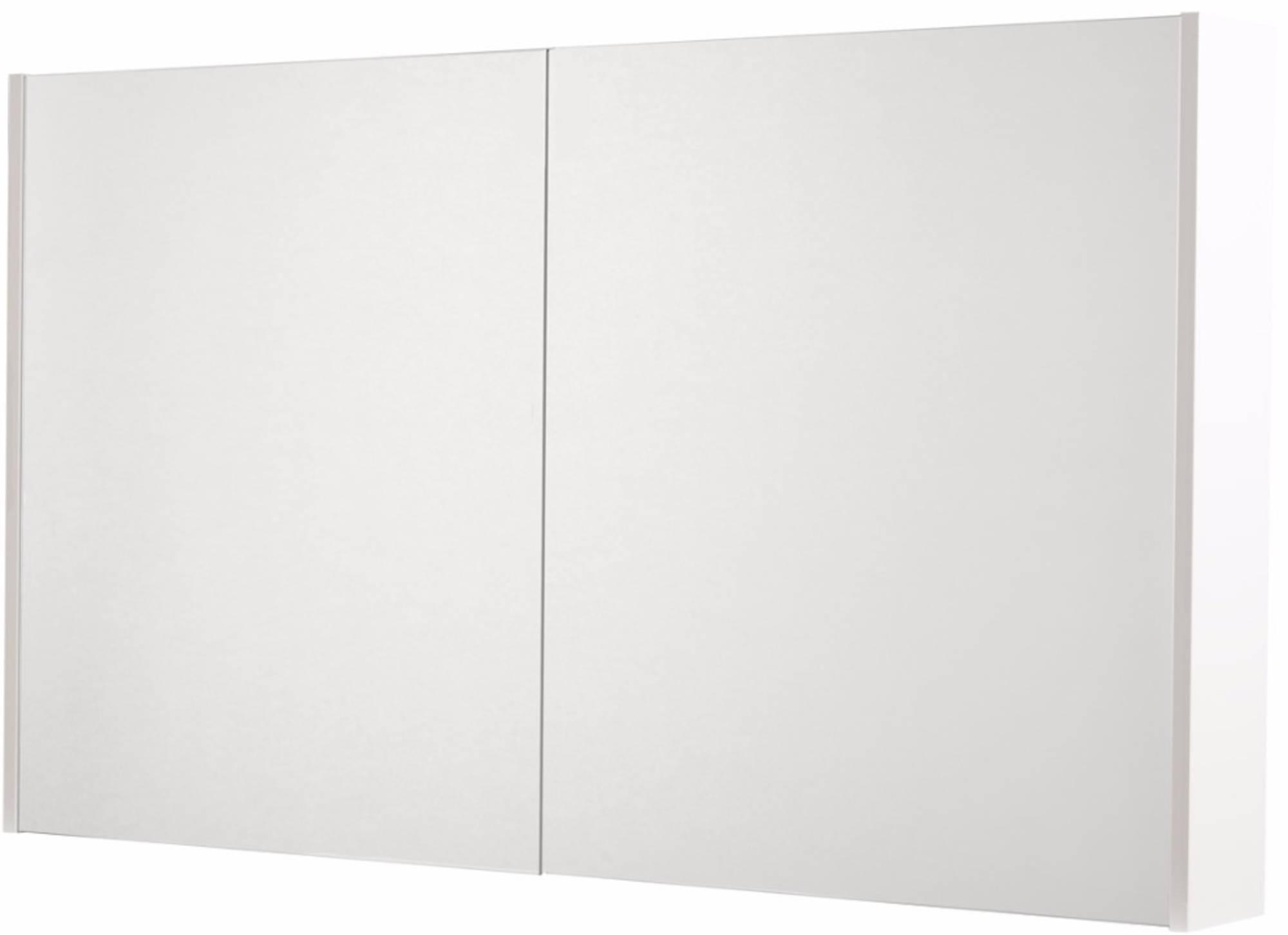 Saniselect Socan Spiegelkast 2 deuren 120cm Mat Wit
