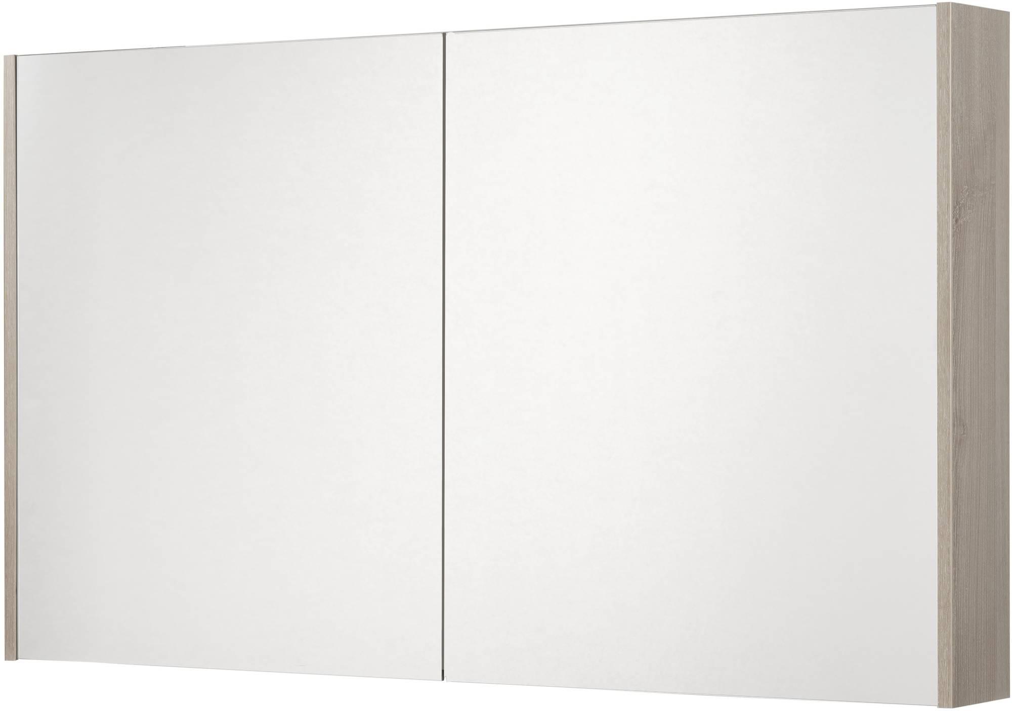 Saniselect Socan Spiegelkast 2 deuren 120cm Litho Grijs