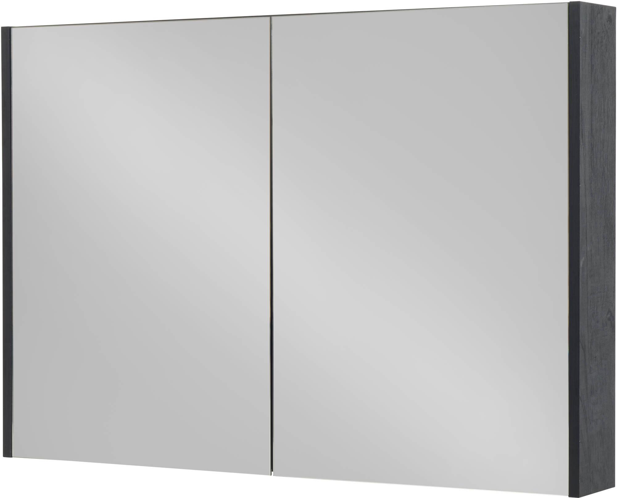 Saniselect Socan Spiegelkast 120x14x70 cm Eiken Zwart