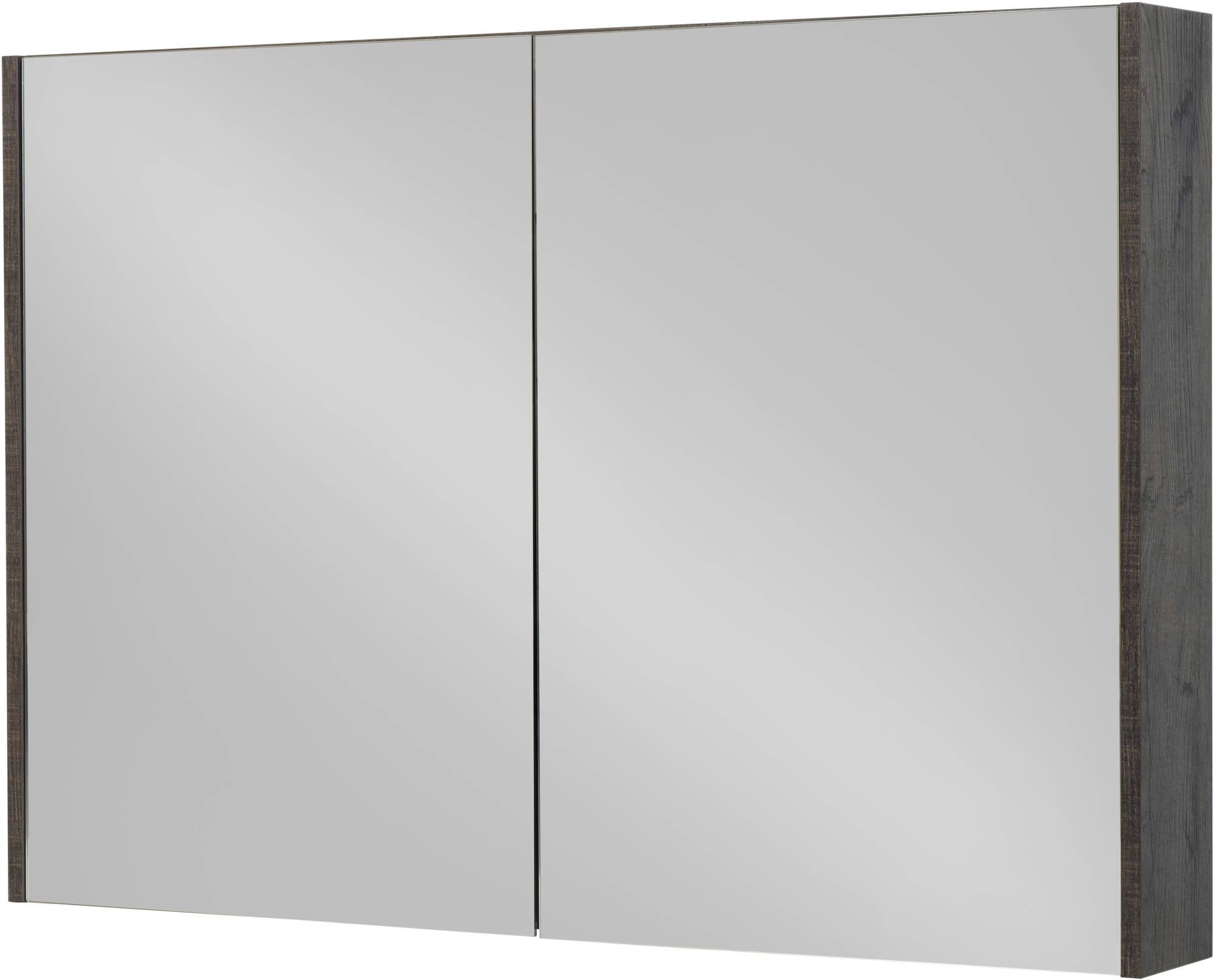 Saniselect Socan Spiegelkast 120x14x70 cm Kasteel Bruin