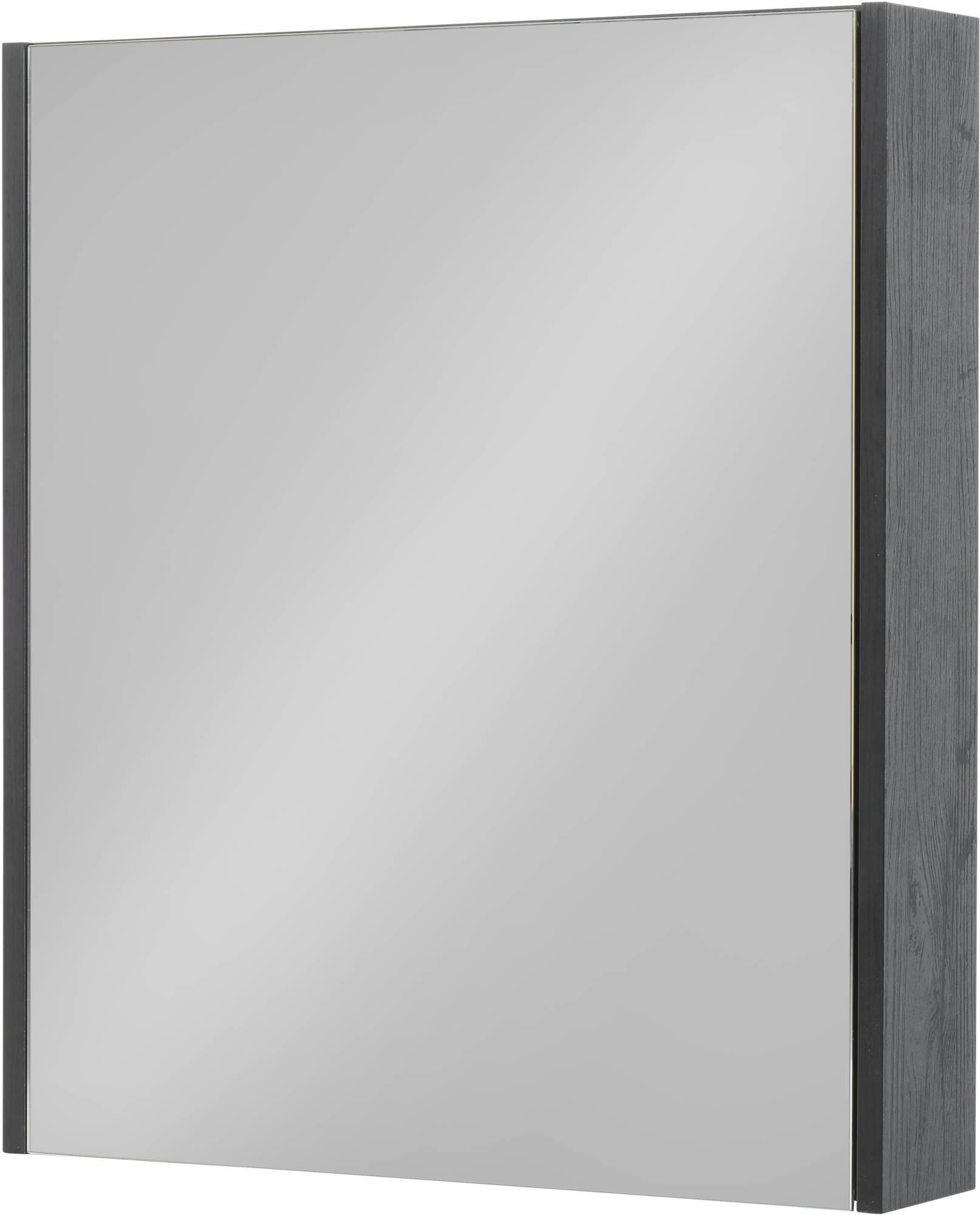 Saniselect Socan Spiegelkast 60x14x70 cm Eiken Zwart