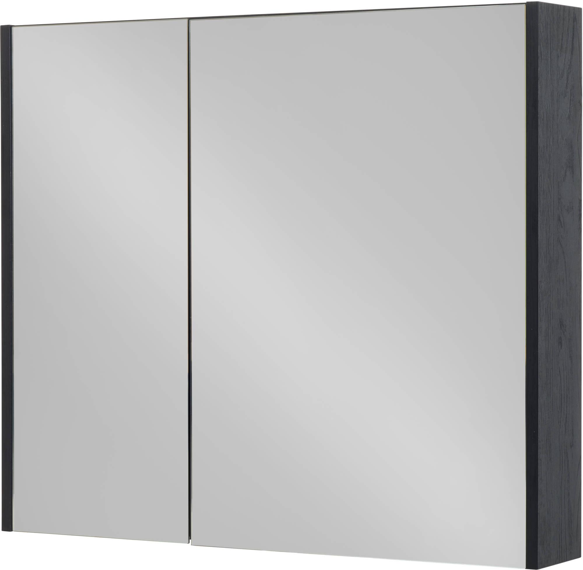 Saniselect Socan Spiegelkast 80x14x70 cm Eiken Zwart