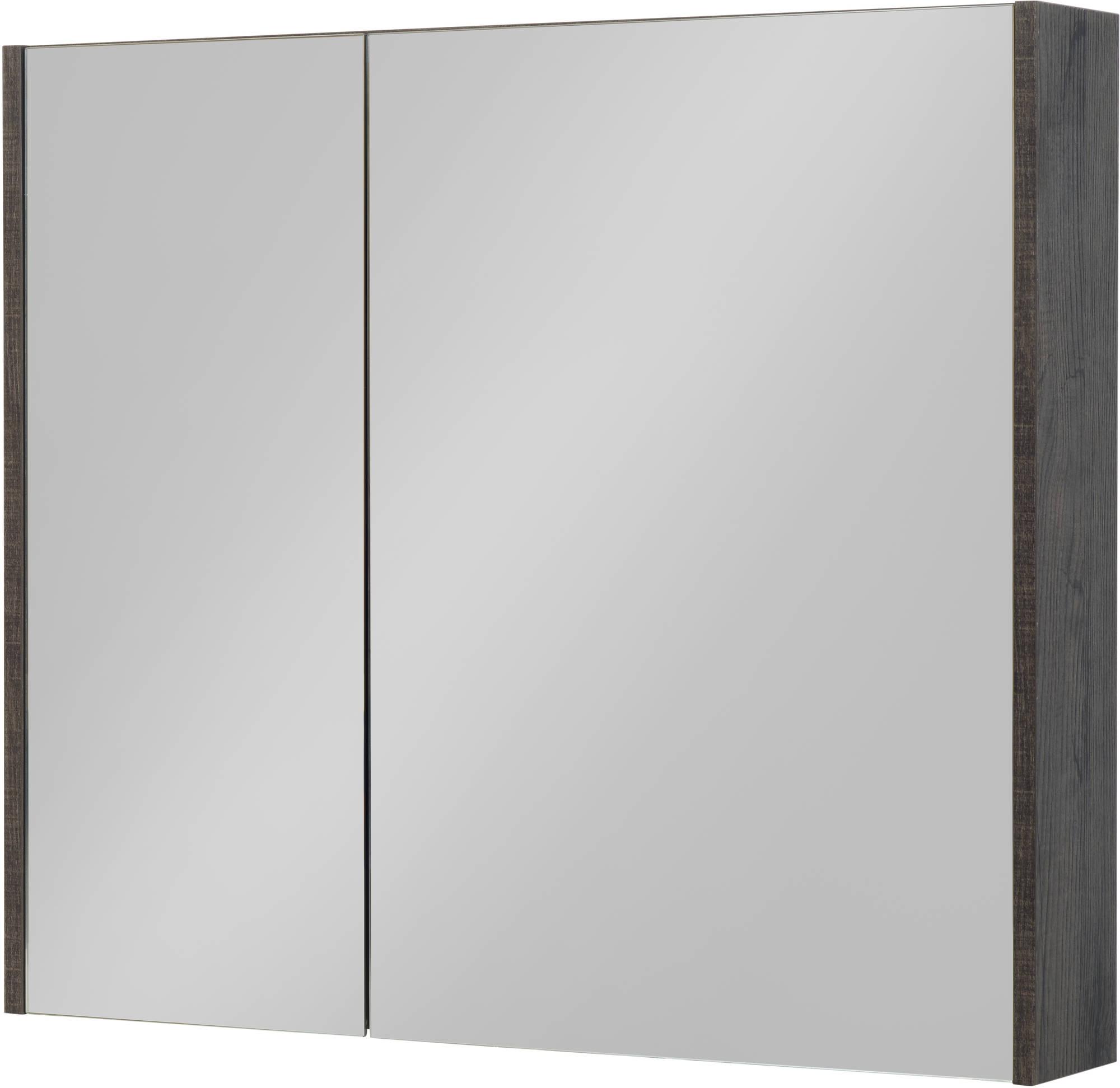 Saniselect Socan Spiegelkast 80x14x70 cm Kasteel Bruin