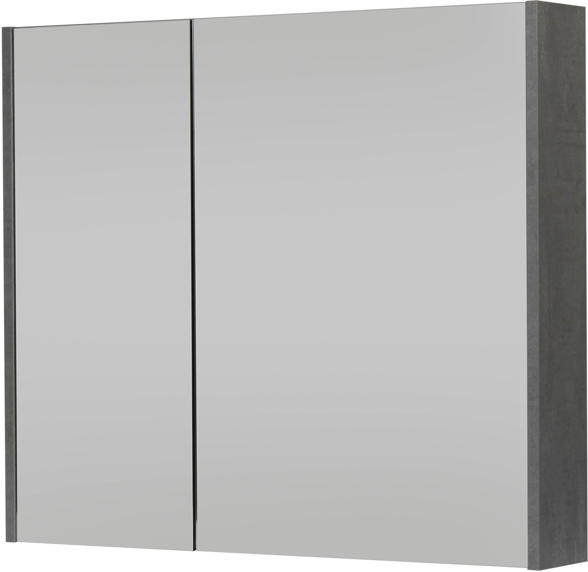 Saniselect Socan Spiegelkast 80x14x70 cm Beton Grijs
