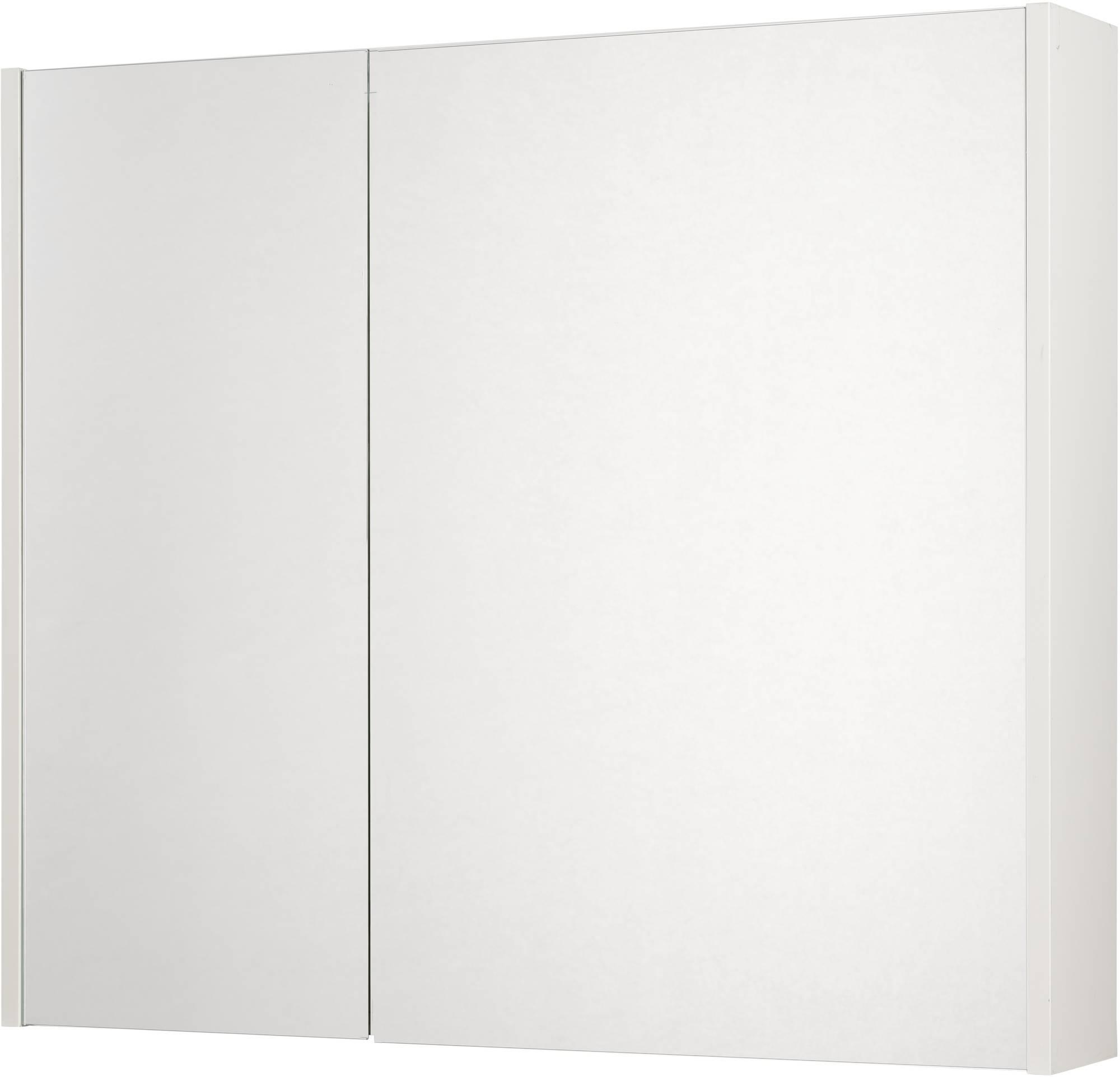 Saniselect Socan Spiegelkast 2 deuren 80cm Mat Wit