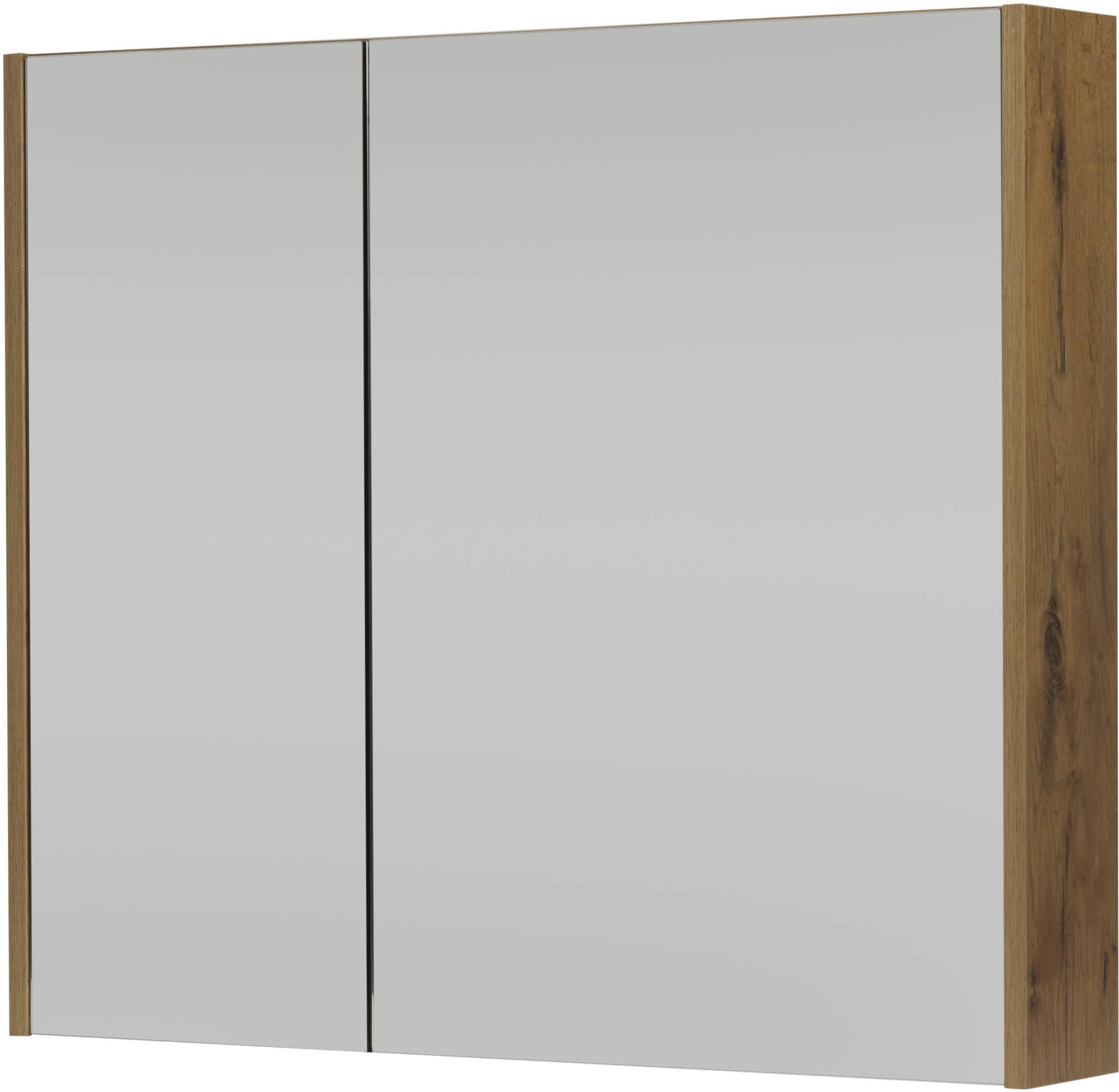 Saniselect Socan Spiegelkast 80x14x70 cm Wild Eiken