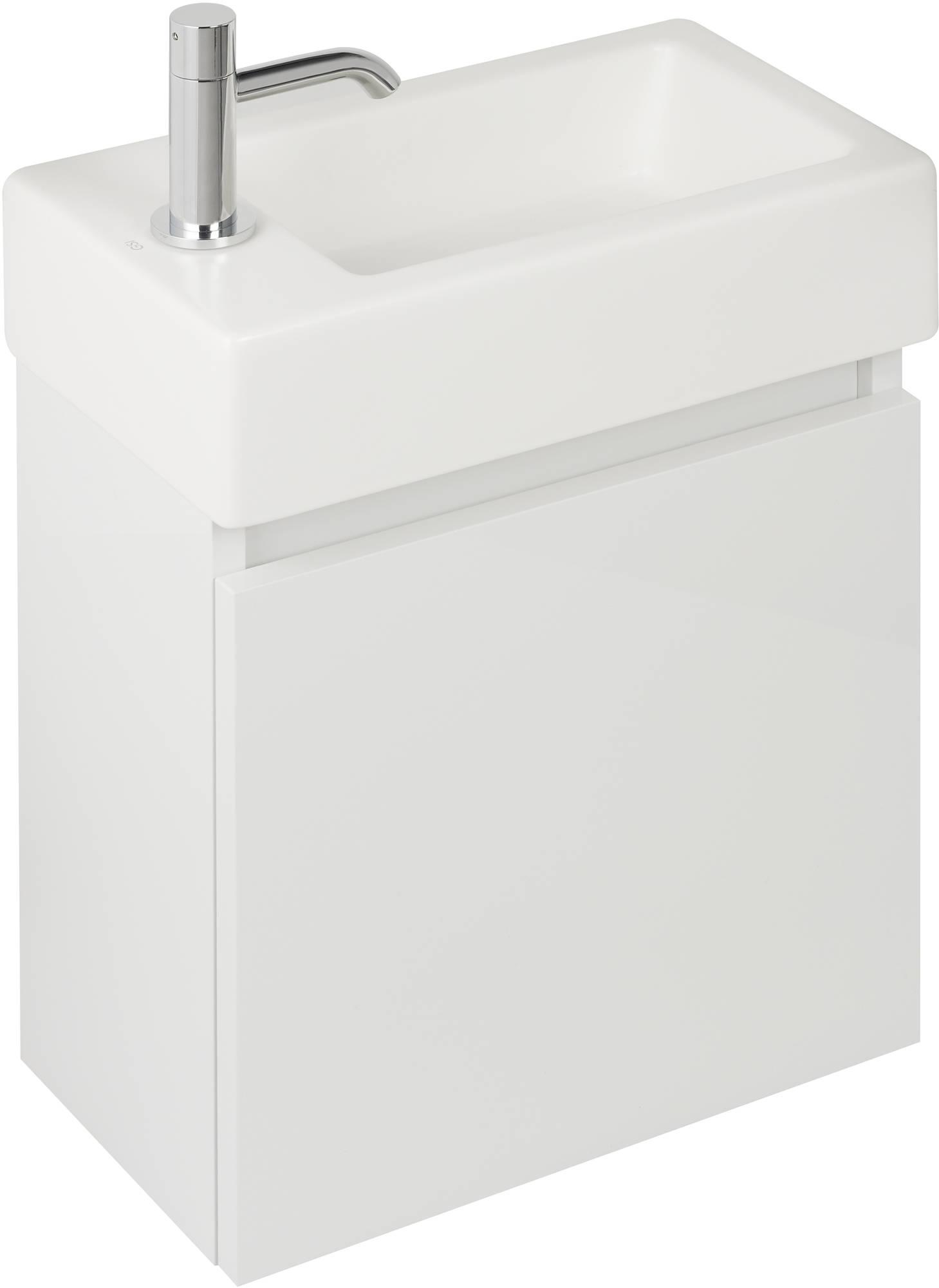 Ben Scuro Fonteinonderkast 1 deur linksdraaiend 40x22x45 cm keramisch wit gelakt