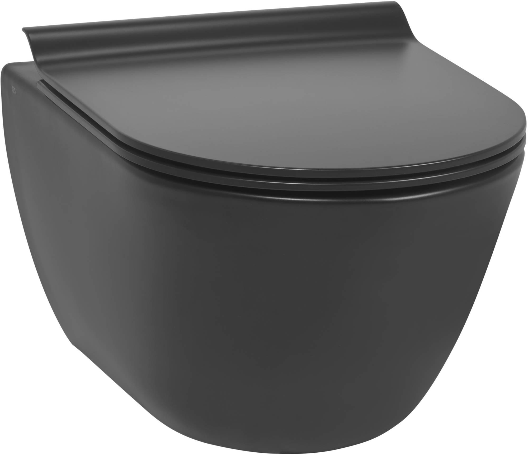 Ben Segno Wandcloset Compact Xtra Glaze Free Flush 36x50 cm Mat Zwart