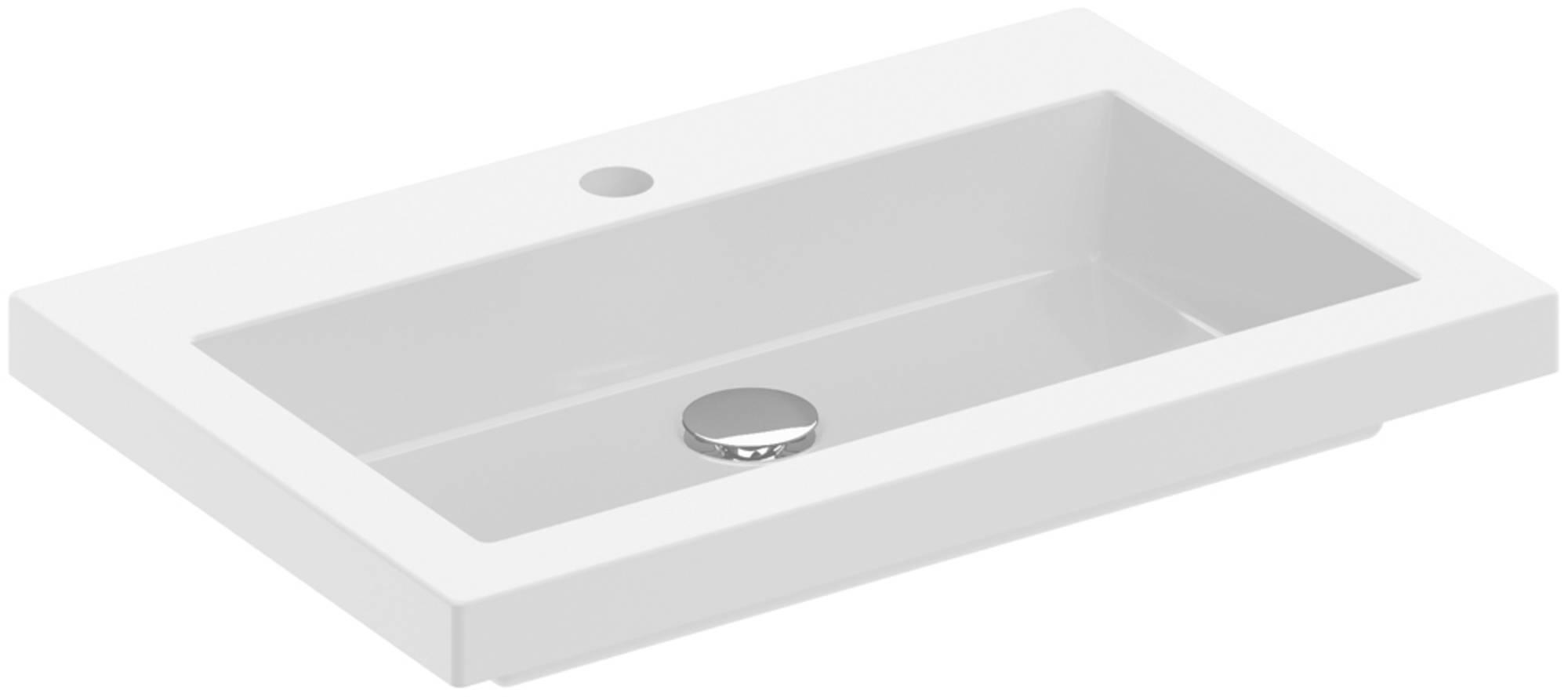 Saniselect Slimline Square 2.0 Wastafelblad 1Kgr. 60x40 cm Wit