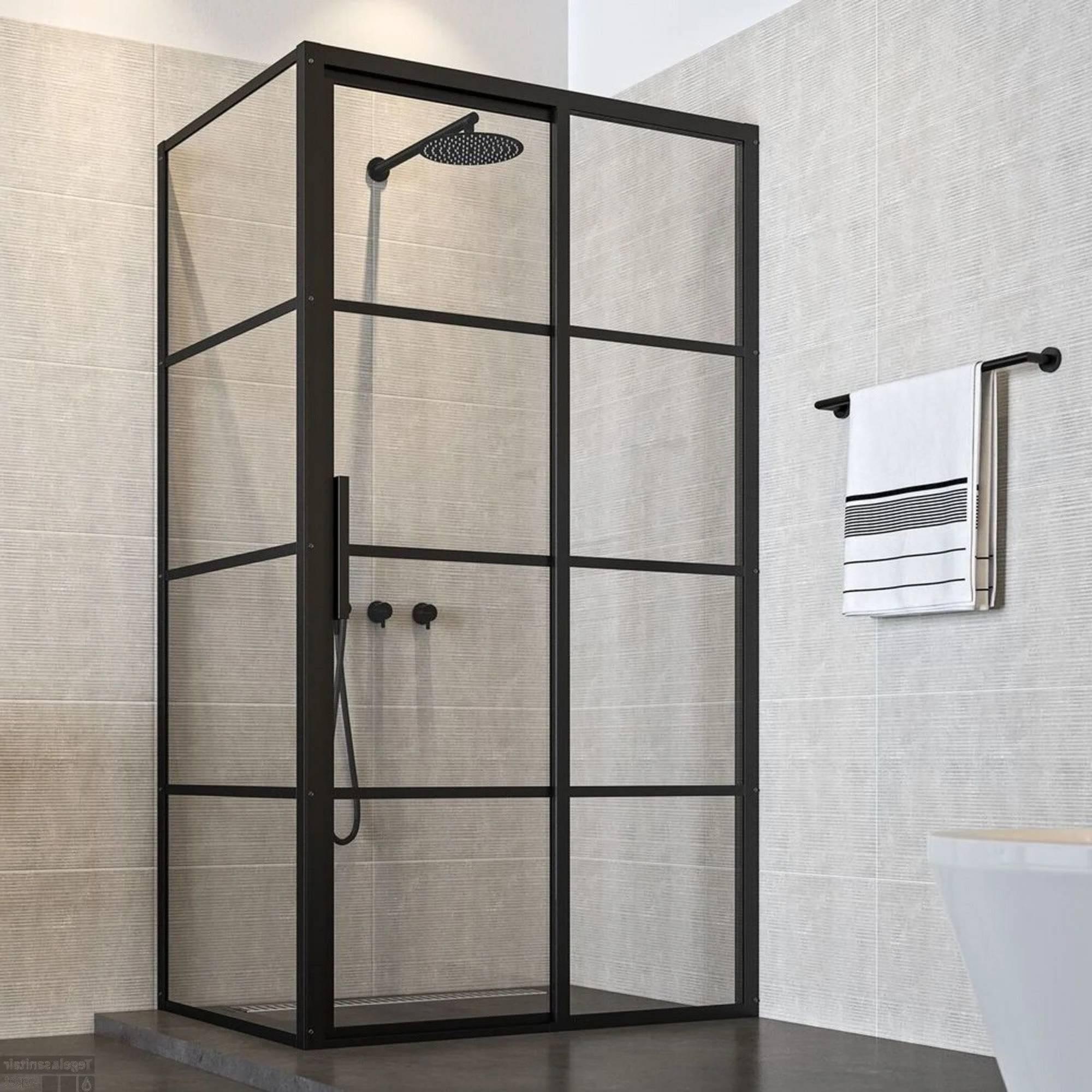 Sealskin SOHO Douchecabine 120x100 cm Schuif tweedelig Rechts Charcoal