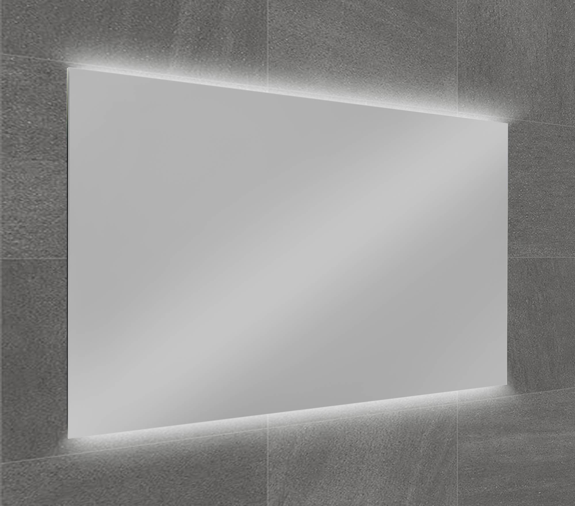 Ben Vario Fiano spiegel met 2x LED verlichting (onder/boven) met schakelaar 80x75cm