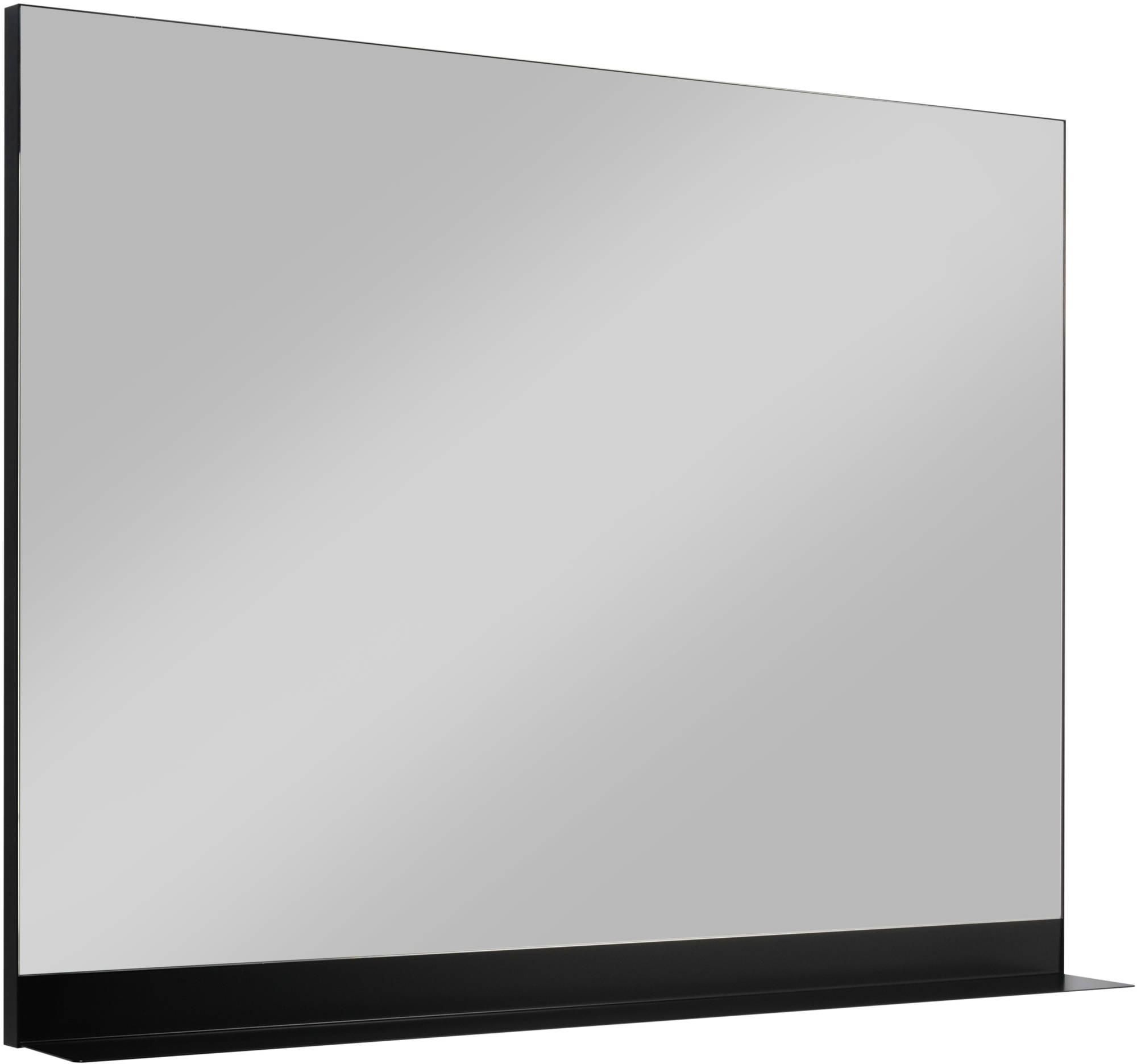 Ben Fossano spiegel met mat zwarte planchet 100x75cm