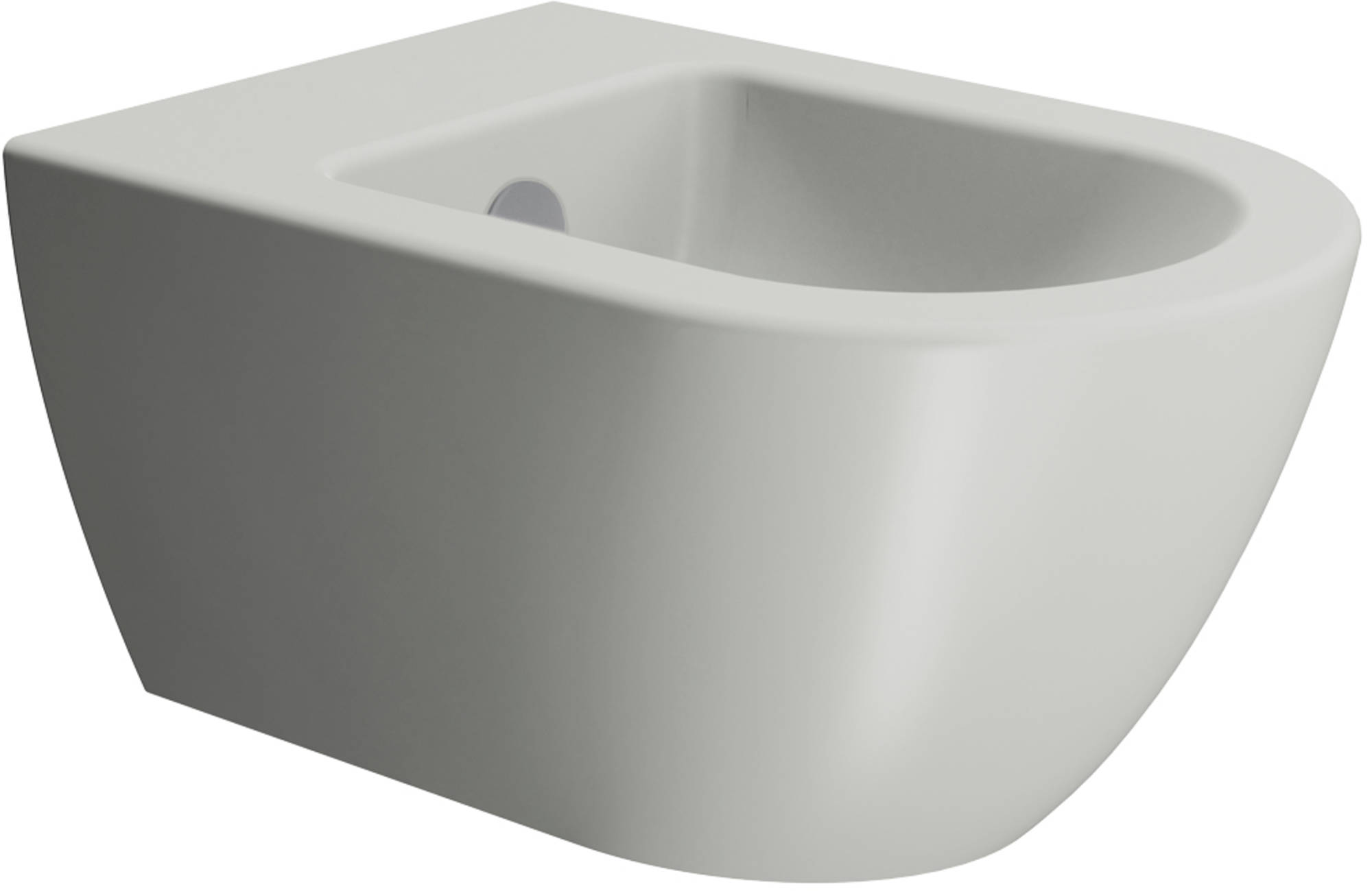 Ben Stelvio Wandbidet 36x55x28 cm Cement Grijs