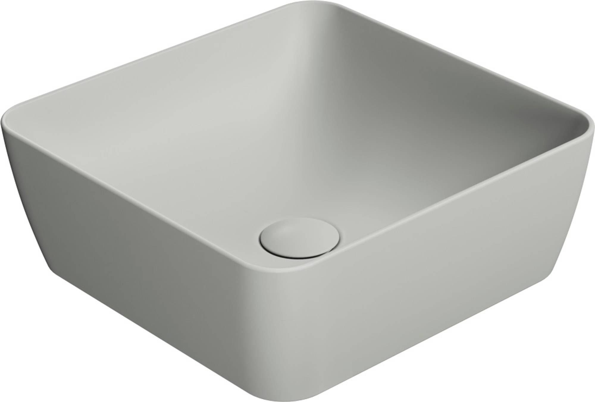Ben Stilo Opzetkom Keramiek 38x38x14 cm Cement Grijs