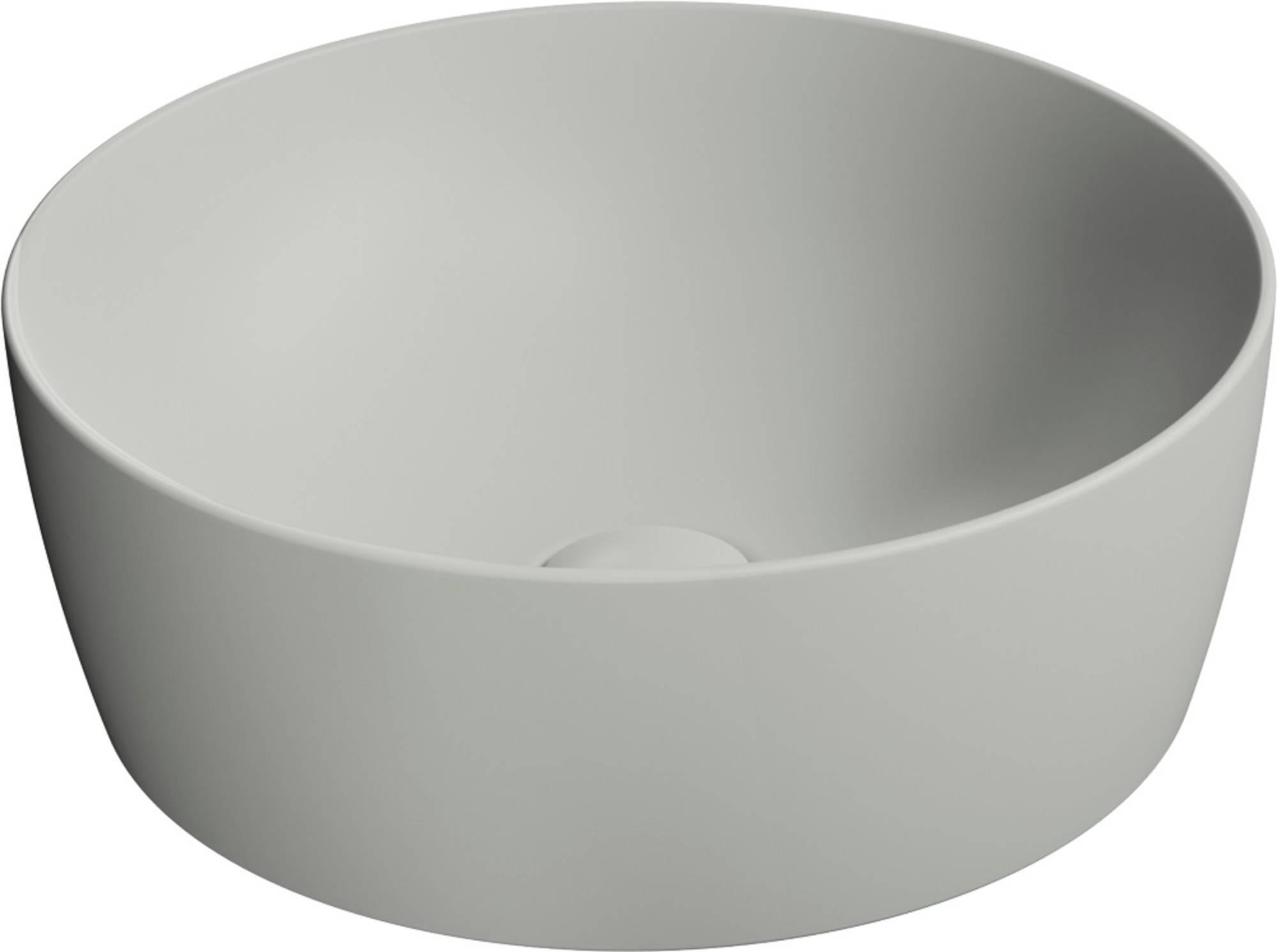 Ben Stilo Opzetkom Keramiek Ø 40x14 cm Cement Grijs
