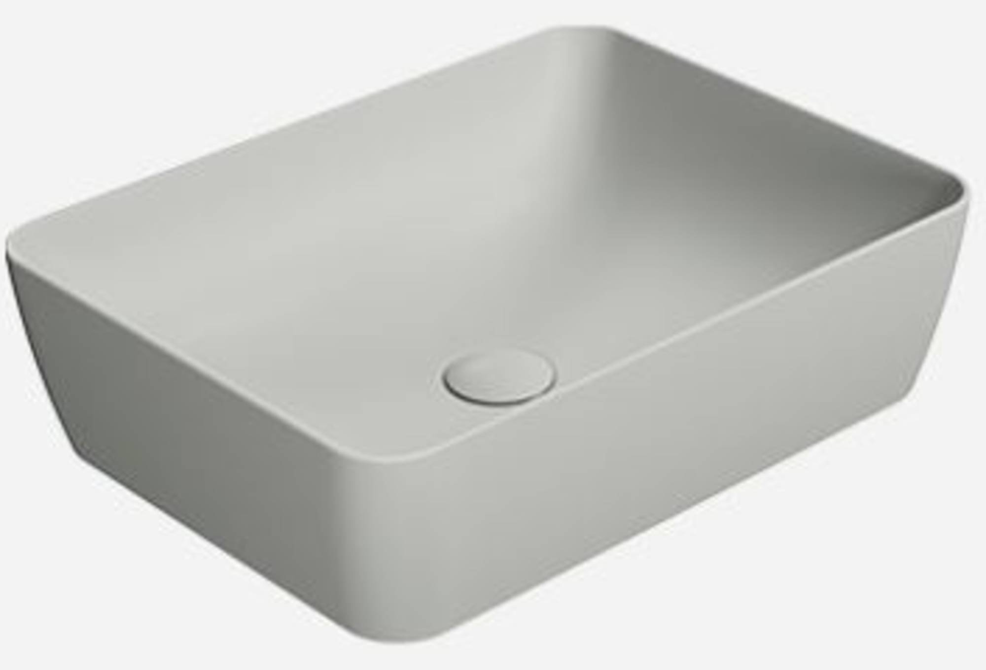 Ben Stilo Opzetkom Keramiek 50x38x14 cm Cement Grijs