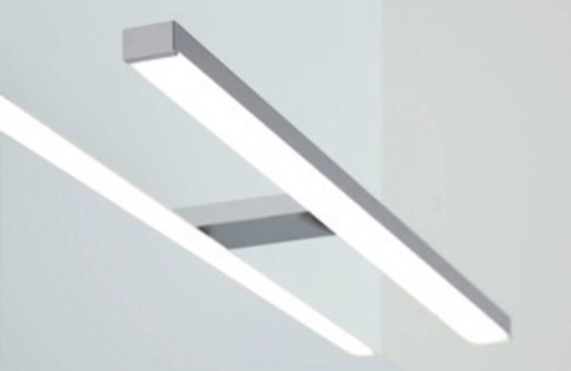 Line 45 Opbouwlamp Rechthoekig 50 cm Chroom tbv. Spiegelkast