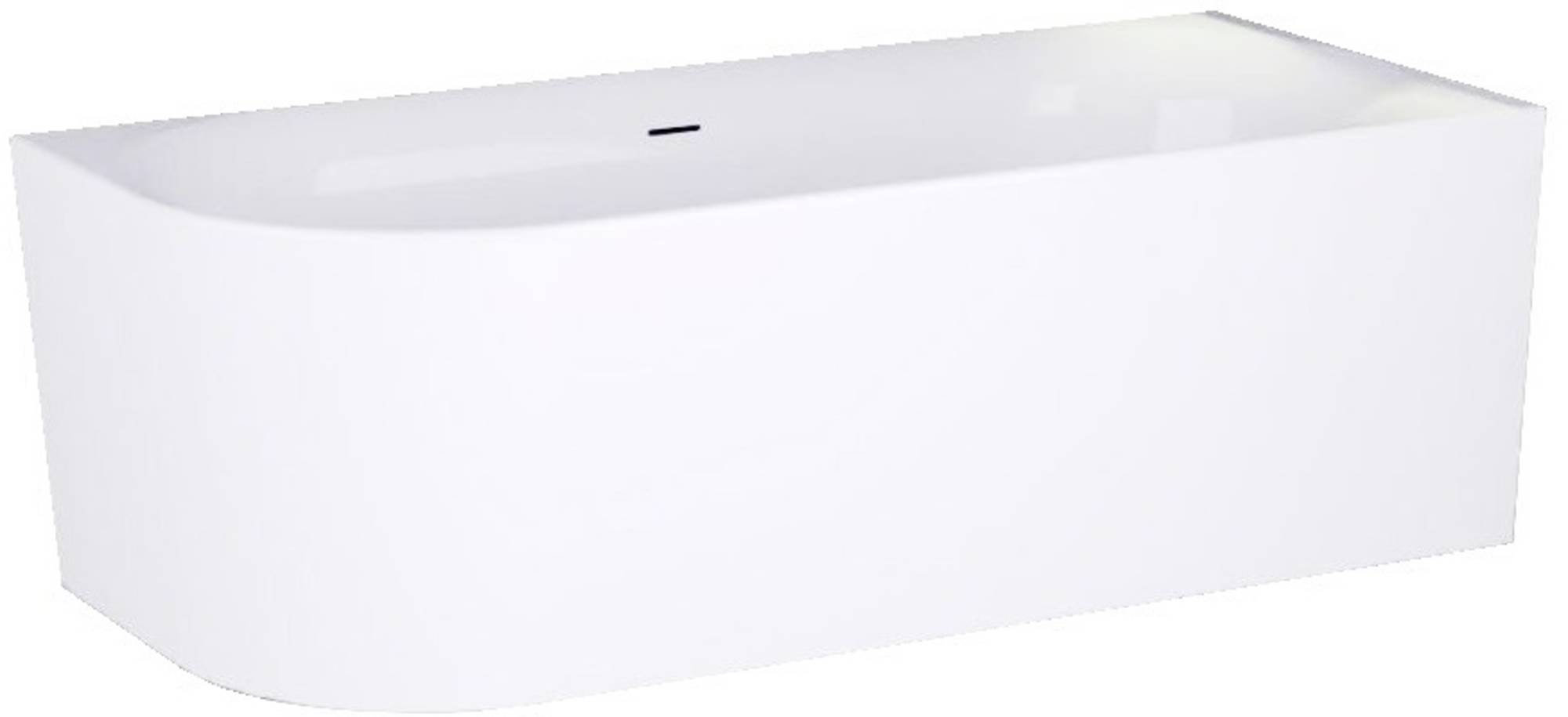 Ben Vico Bad Back to Wall R met Sleuf 180x80x60,5 cm Mat Wit
