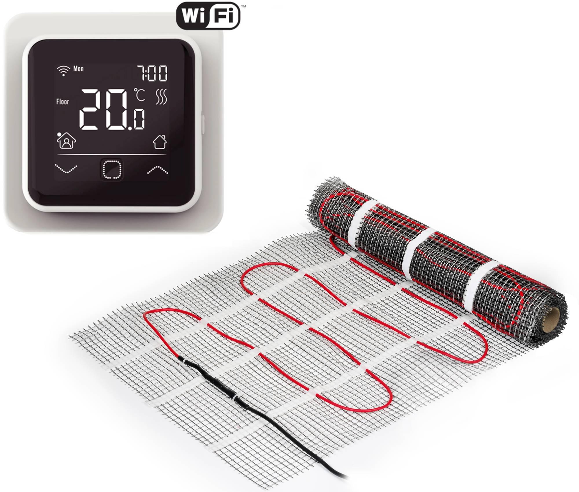 Ben Comforta Vloerverwarming 1,5 m² met WIFI Klokthermostaat Wit