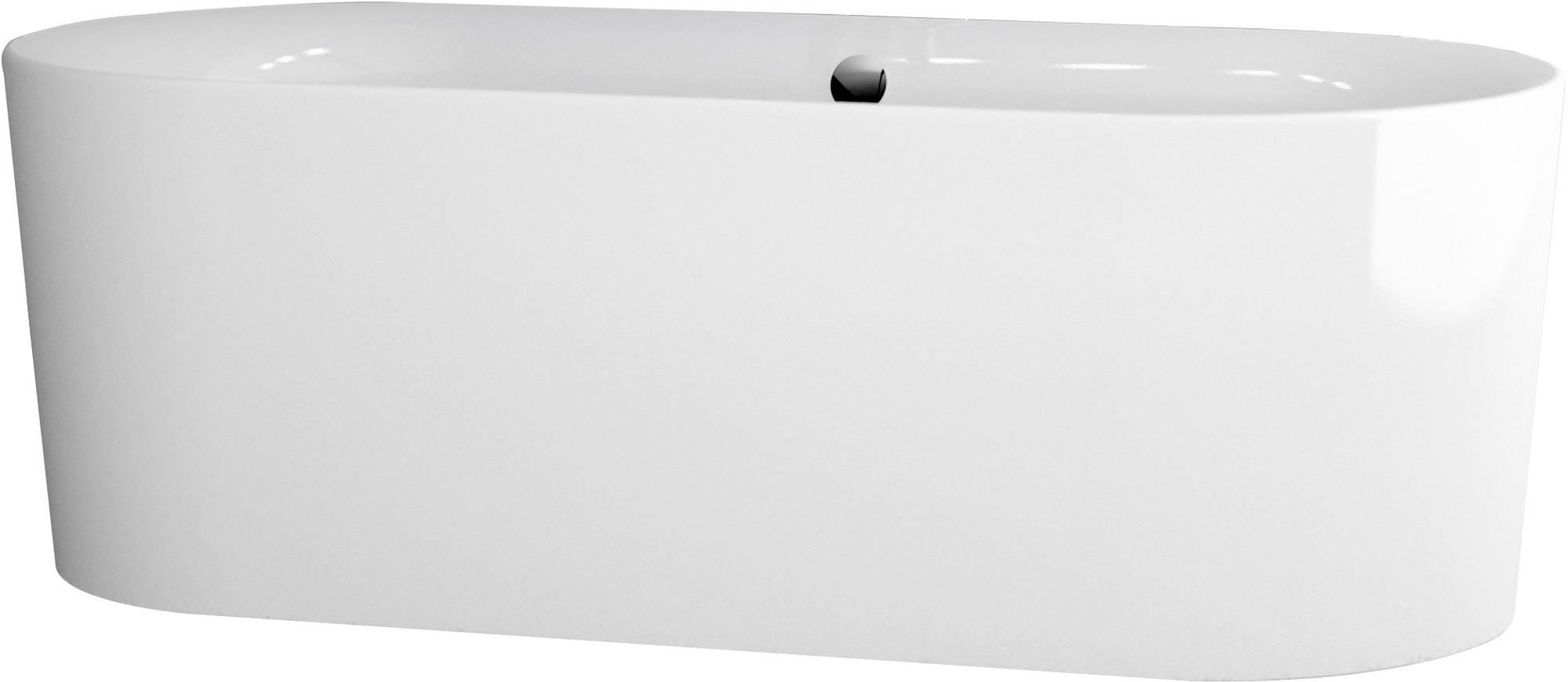 Ben Vico Bad Vrijstaand met Badvul en overloopcombinatie 180x80 cm Mat Wit - Mat Wit