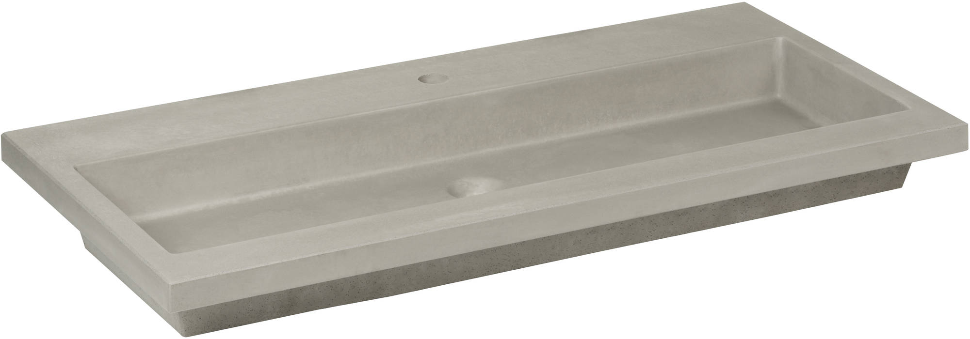 Ben Concrete Wastafel enkel 80x51cm Beton 1 kraangat