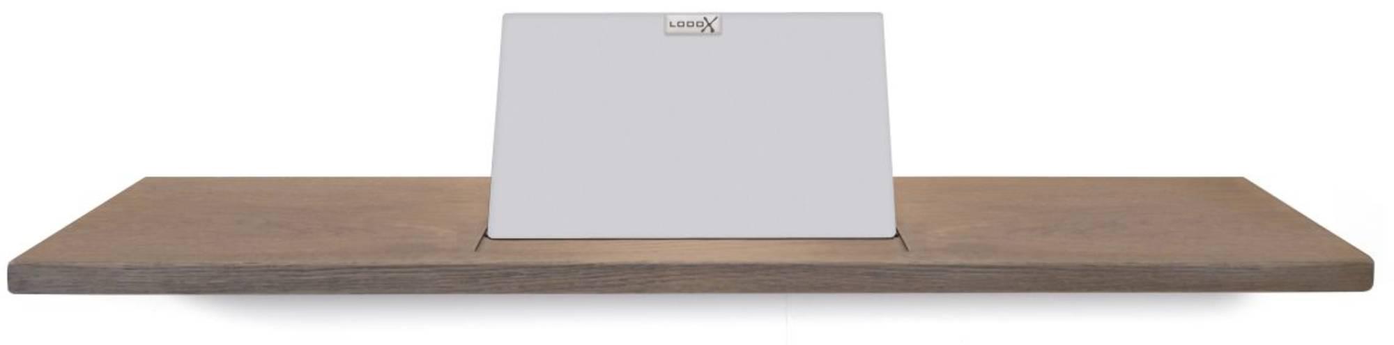 Looox Wooden Collection bath shelf met houder mat wit eiken/mat wit