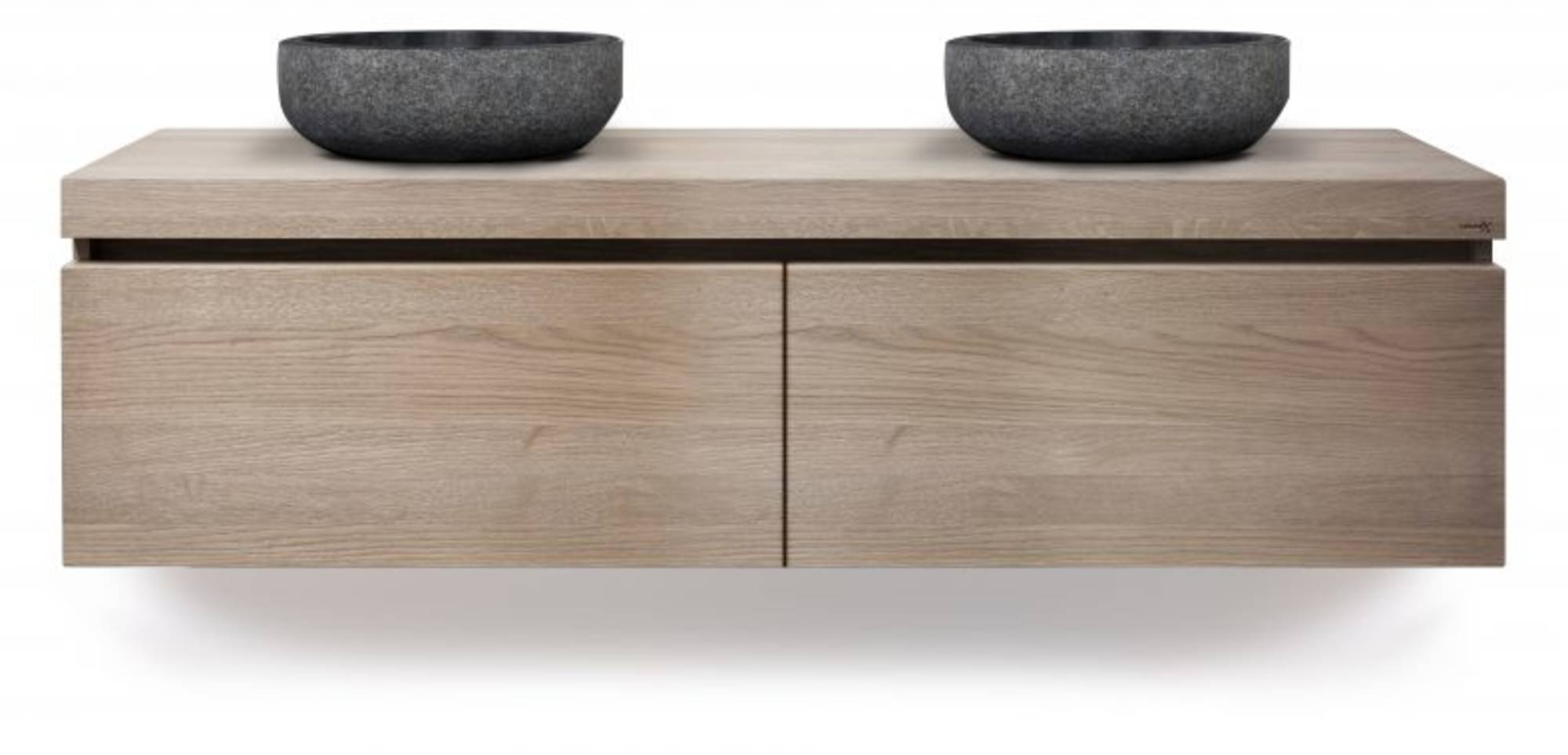 Looox Wood Wooden Drawer Box 140x46x45 cm Old Grey