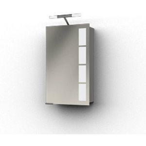Ben Magno Spiegelkast Aluminium 45cm met staafverlichting
