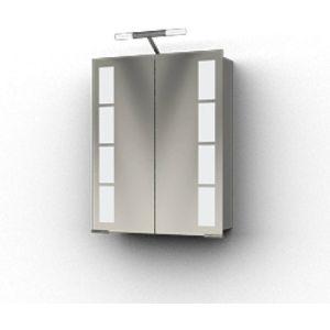 Ben Magno Spiegelkast Aluminium 60cm met staafverlichting