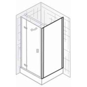 Ben Martino II Zijwand 100x200cm Chroom / Helder Glas