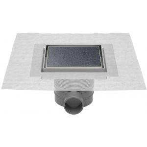 Easydrain Aqua Jewels quattro vloerput rvs 10 x 10 cm. zu multi Tegel / Rvs